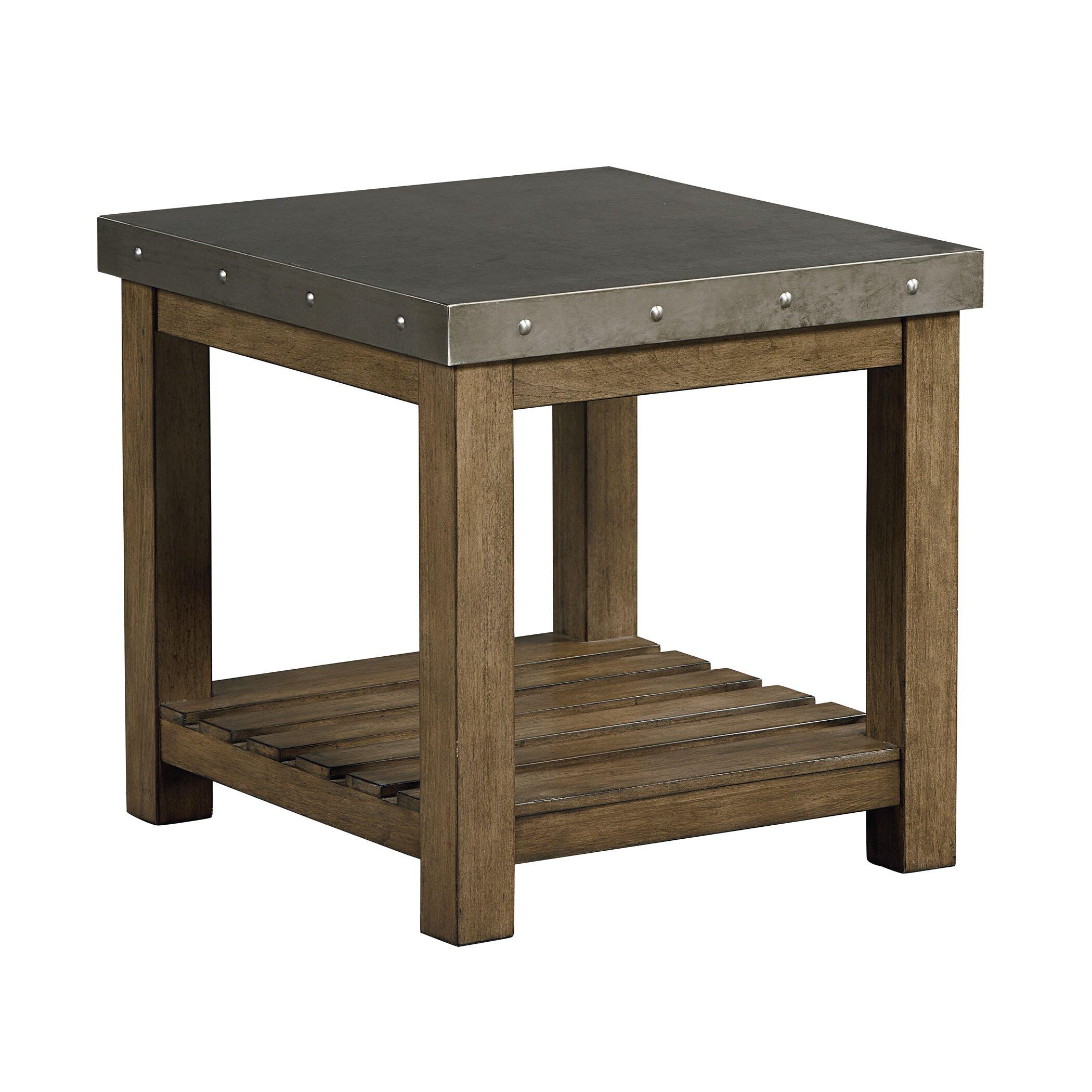 Laurel foundry modern farmhouse aubrie end table wayfair for Farmhouse end table set