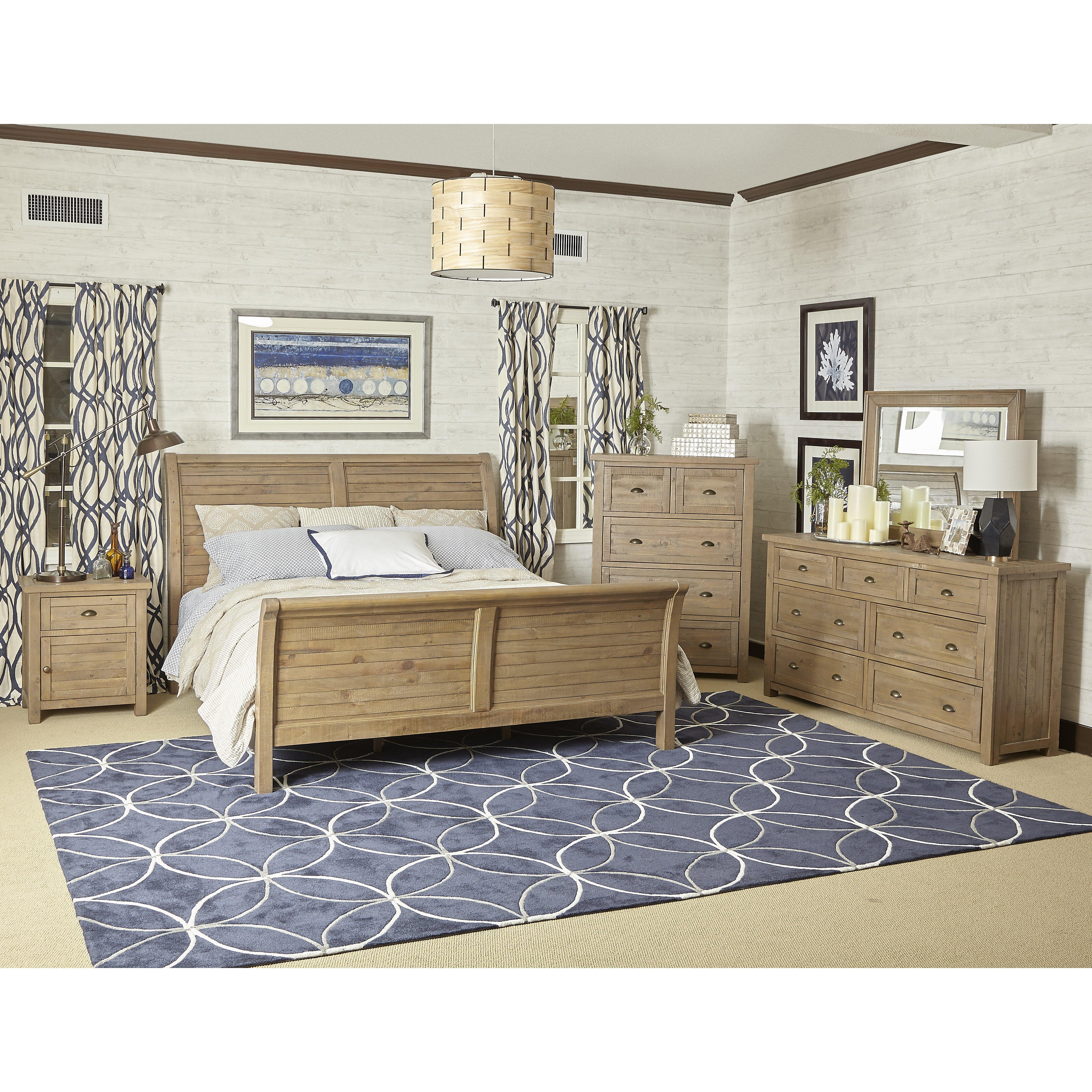 Laurel Foundry Modern Farmhouse Cannes Sleigh Customizable Bedroom Set Reviews Wayfair