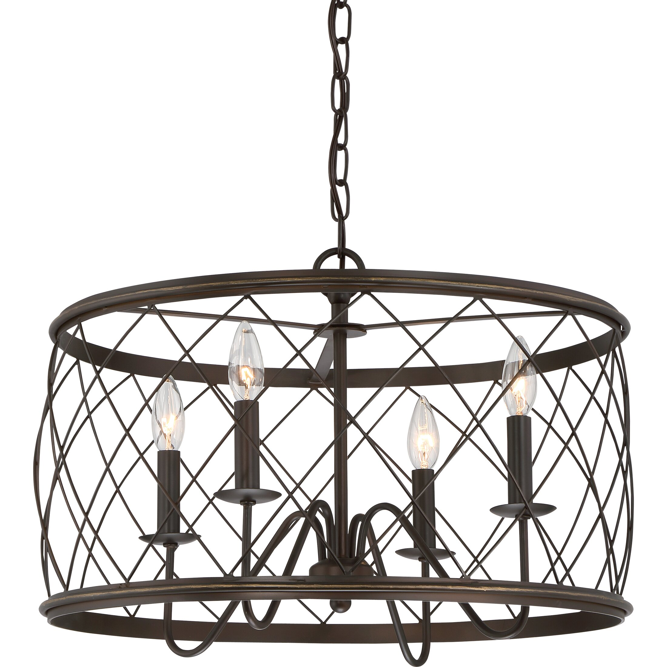 Laurel Foundry Modern Farmhouse Gabriel 4 Light Drum