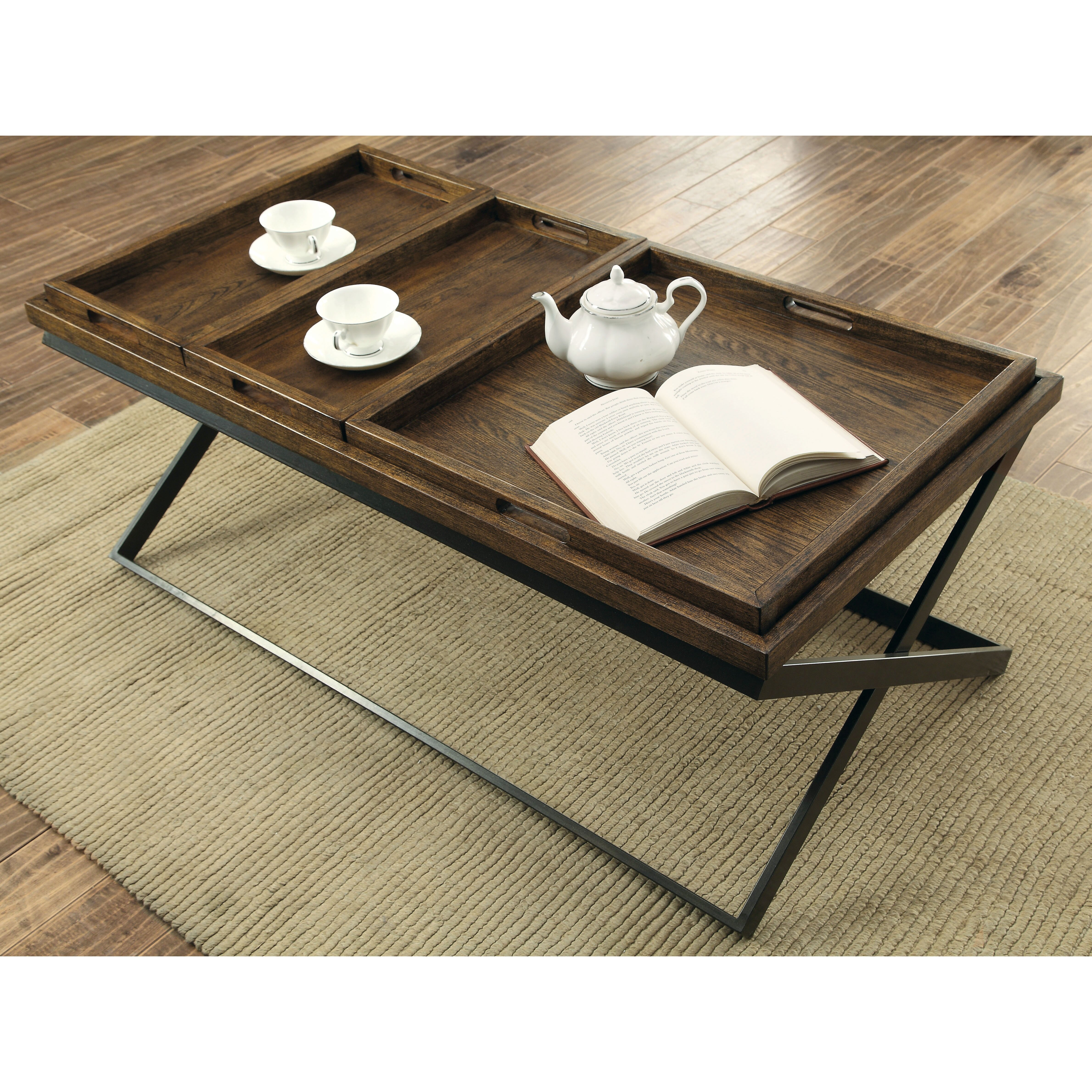 Tray Like Coffee Table: Laurel Foundry Modern Farmhouse Evansville Coffee Table