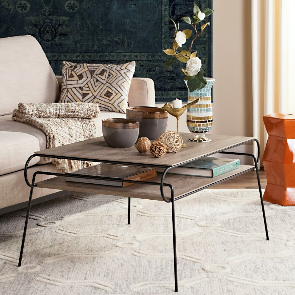 Laurel foundry modern farmhouse bilel coffee table wayfair for Modern farmhouse coffee table