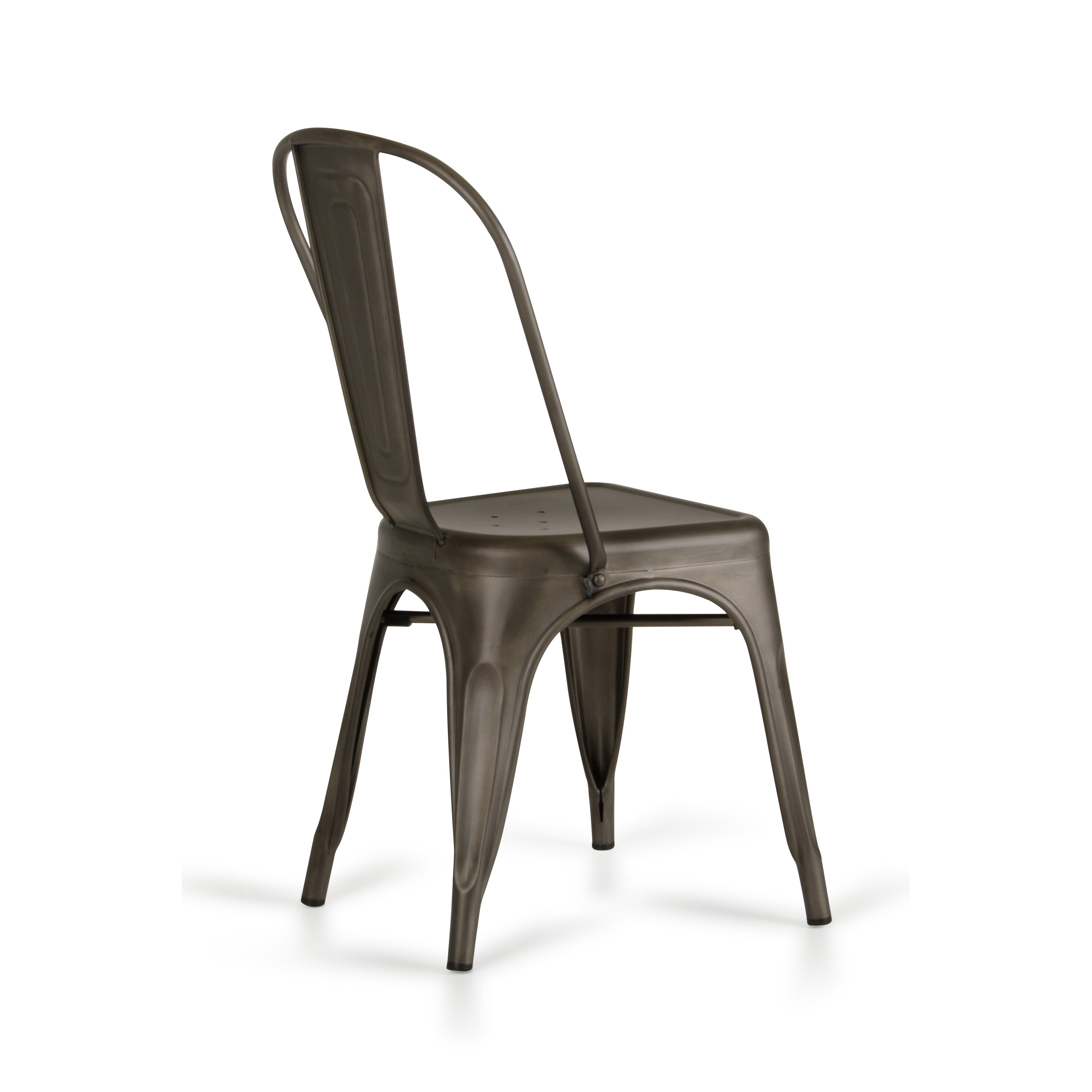 Laurel foundry modern farmhouse drummond rust metal dining for Modern metal chairs