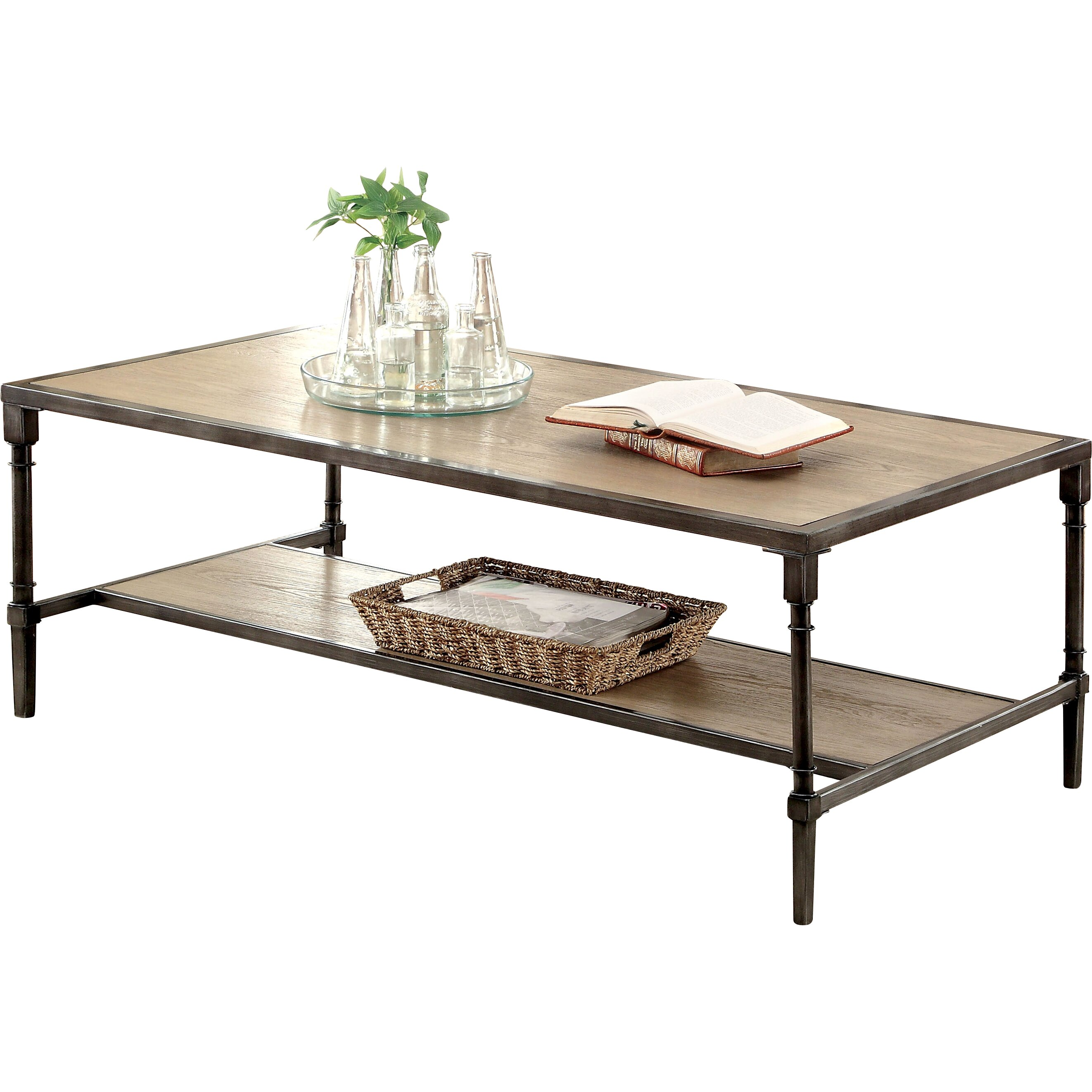 Laurel foundry modern farmhouse forrest coffee table for Modern farmhouse coffee table