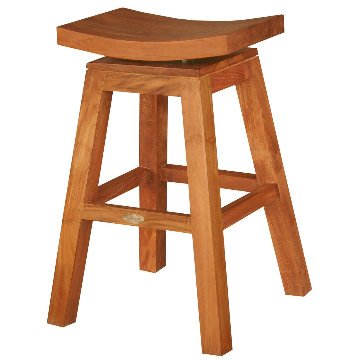 Chicteak 24 Quot Swivel Bar Stool Wayfair