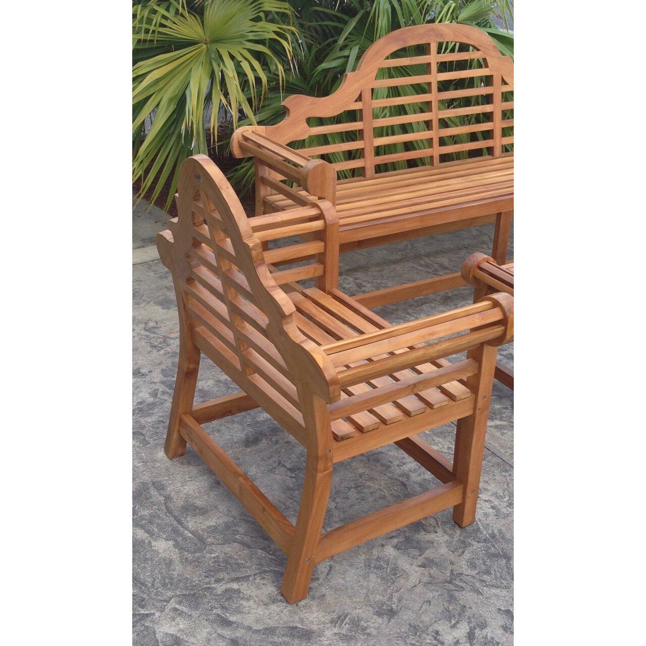 Chicteak Lutyens Teak Garden Bench Wayfair