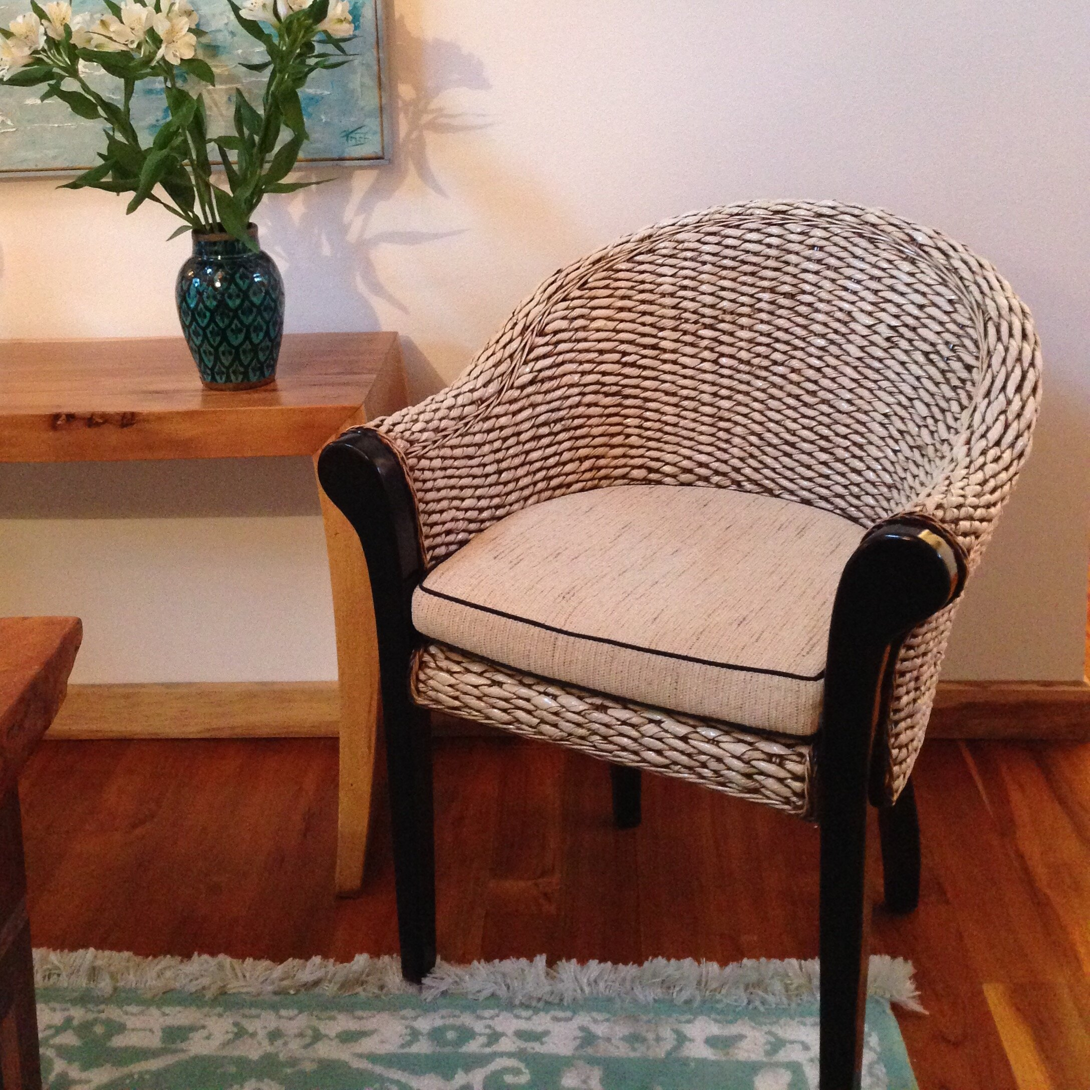 Chicteak banana leaf paris arm chair wayfair