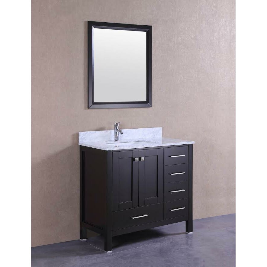 Belvederebath signature series 36 single bathroom vanity for Bath and vanity set