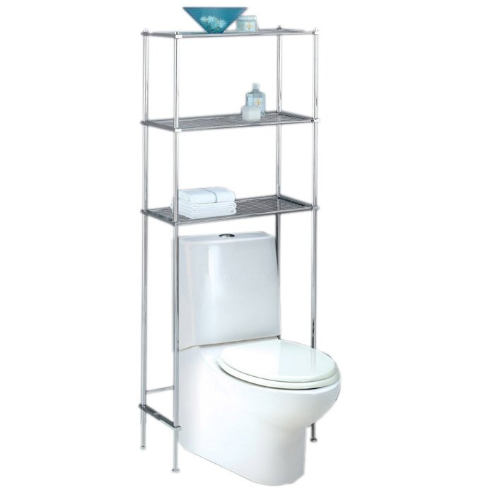 Oia Metro Free Standing Over The Toilet X 64 Bathroom Shelf Reviews Wayfair