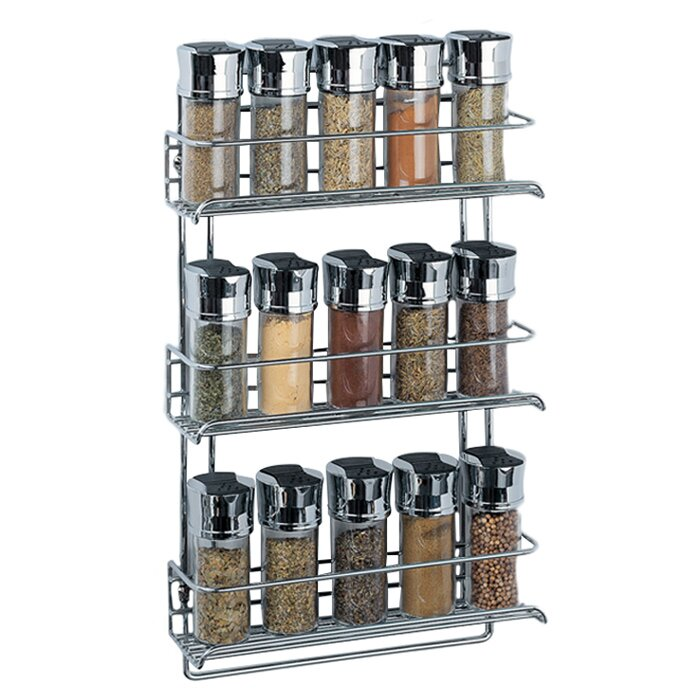 oia chrome wall mount spice rack reviews wayfair. Black Bedroom Furniture Sets. Home Design Ideas