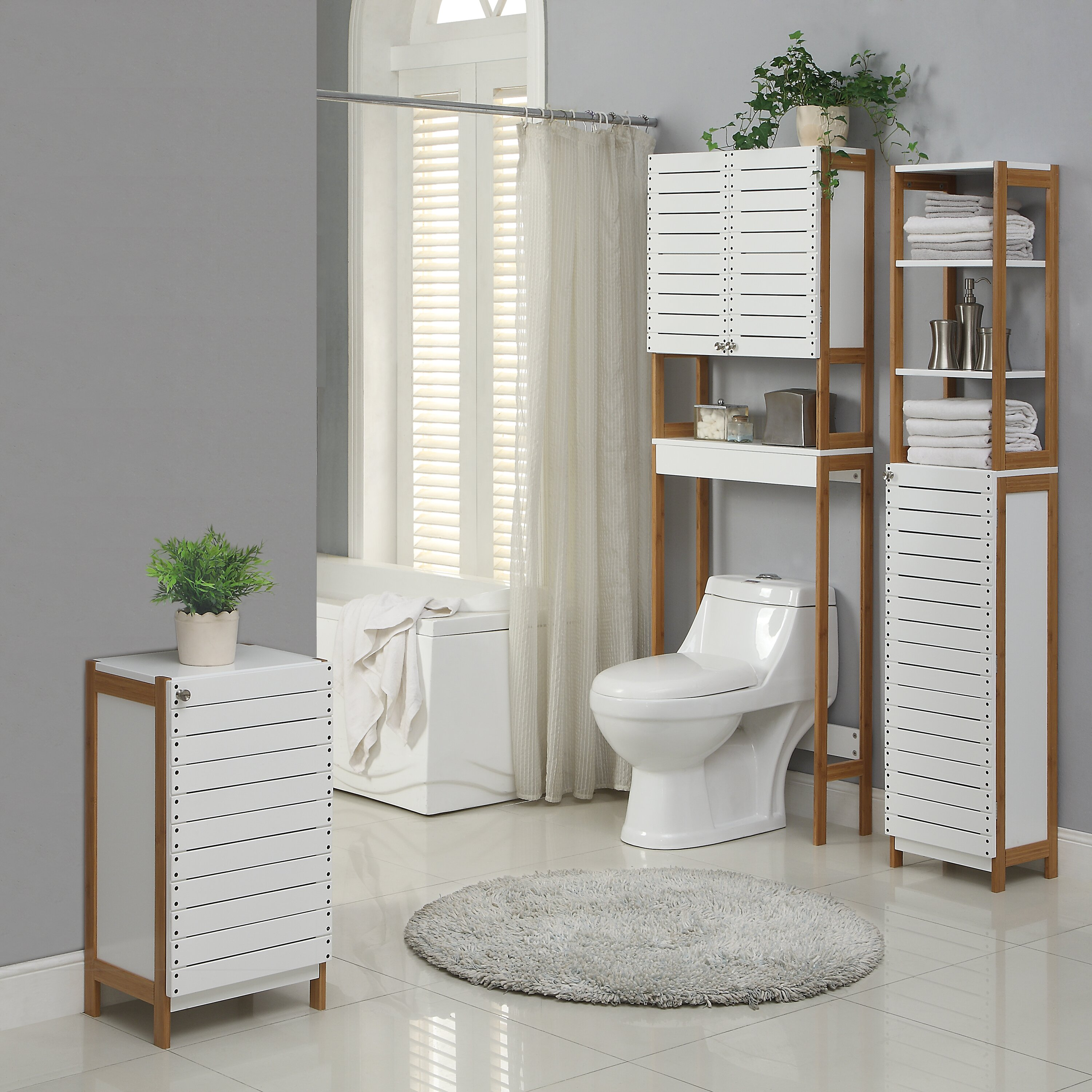 Oia Rendition 23 62 Quot W X 70 25 Quot H Over The Toilet Storage