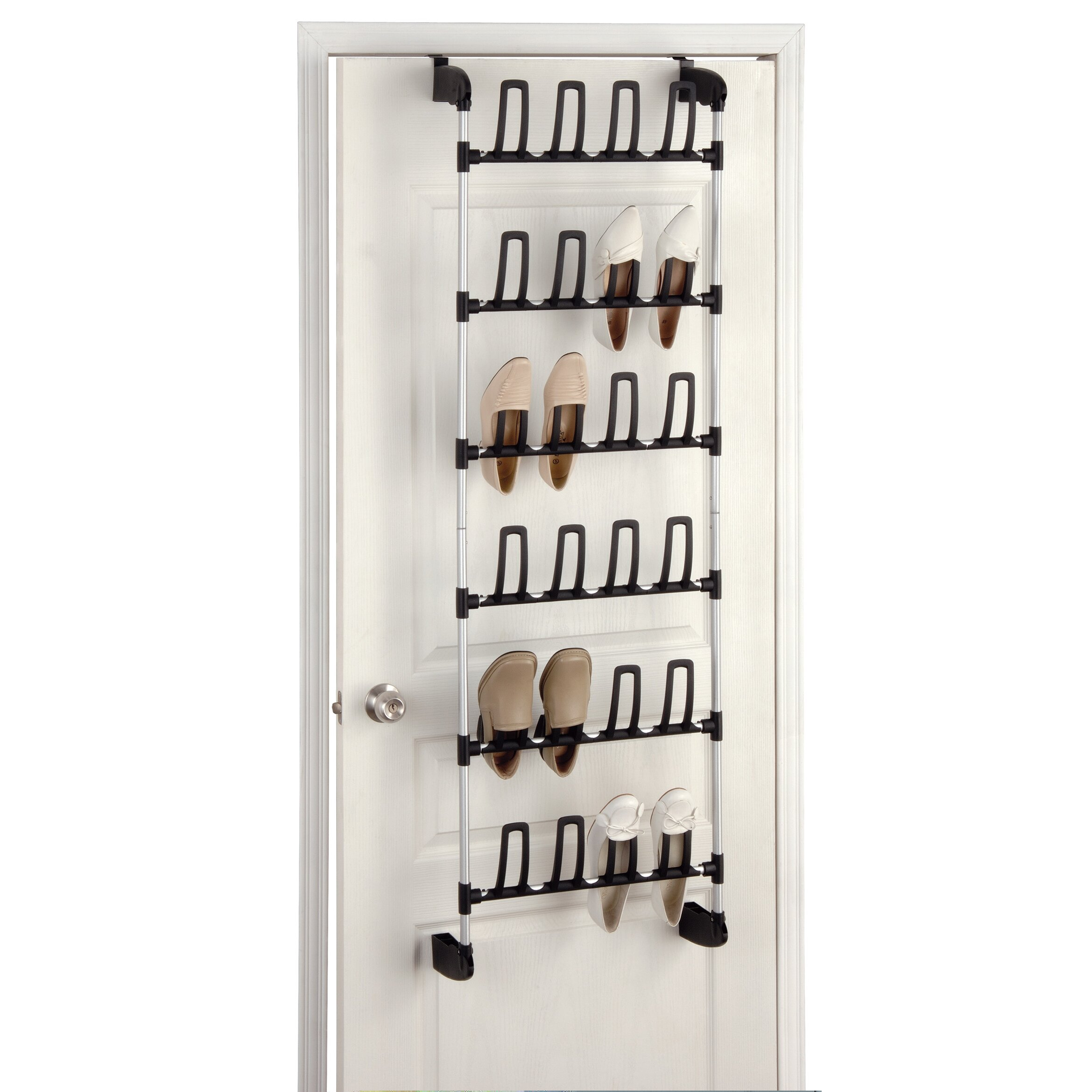 oia 6 tier overdoor shoe organizer reviews wayfair. Black Bedroom Furniture Sets. Home Design Ideas