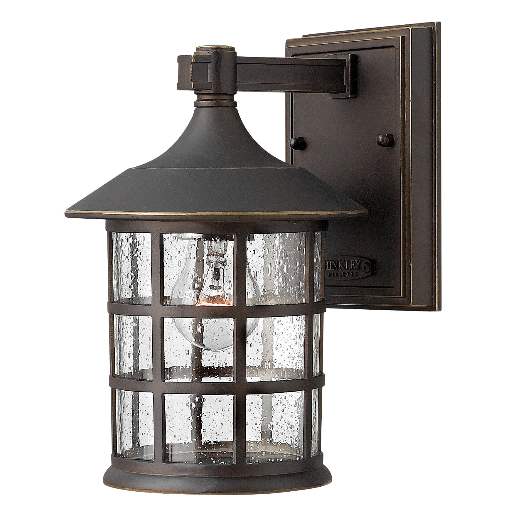 Hinkley lighting freeport 1 light outdoor wall lantern for Outside lawn lights