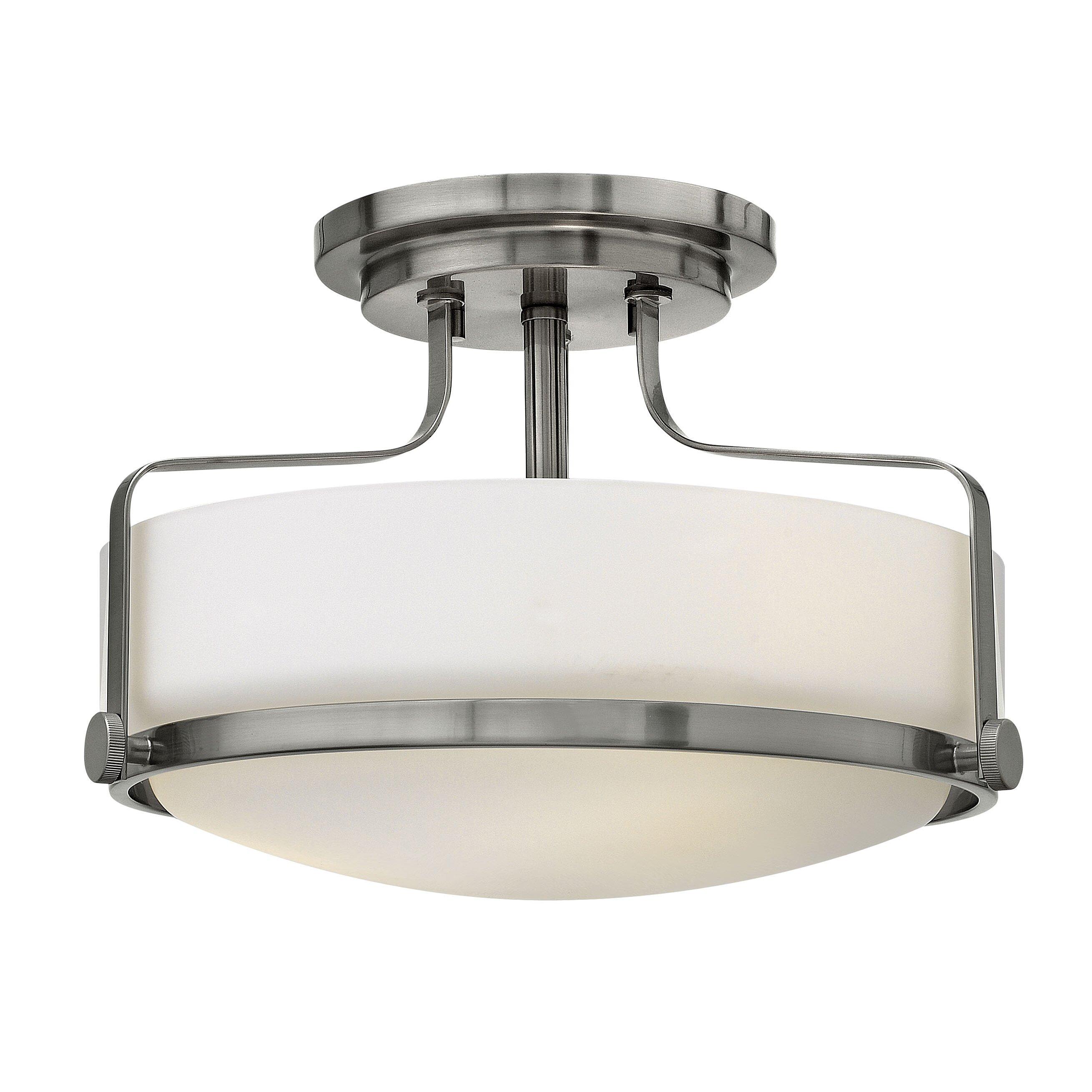 Foyer Lighting Flush Mount : Hinkley lighting harper light foyer flush mount