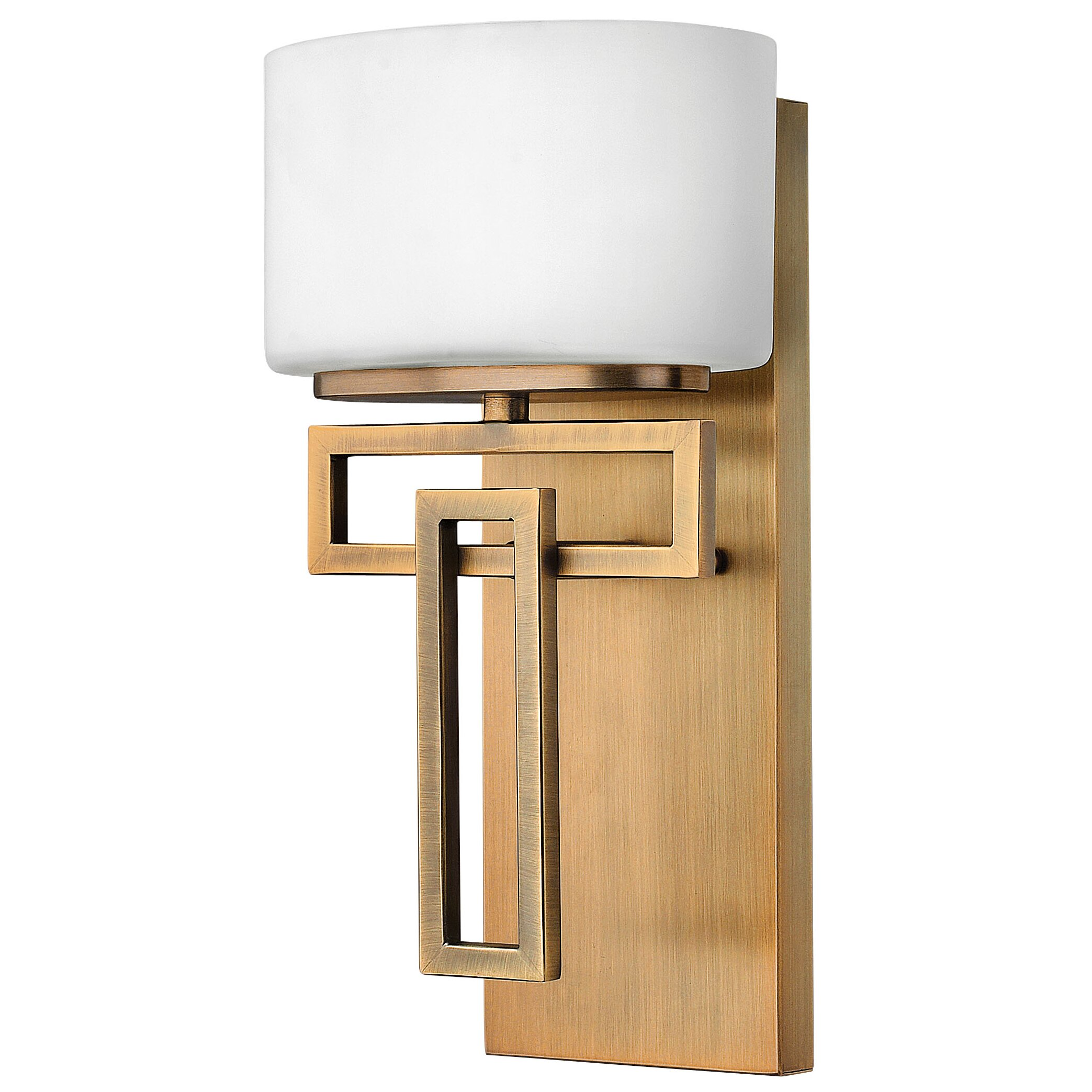 Hinkley Bathroom Wall Sconces : Hinkley Lighting Lanza 1 Light Wall Sconce & Reviews Wayfair