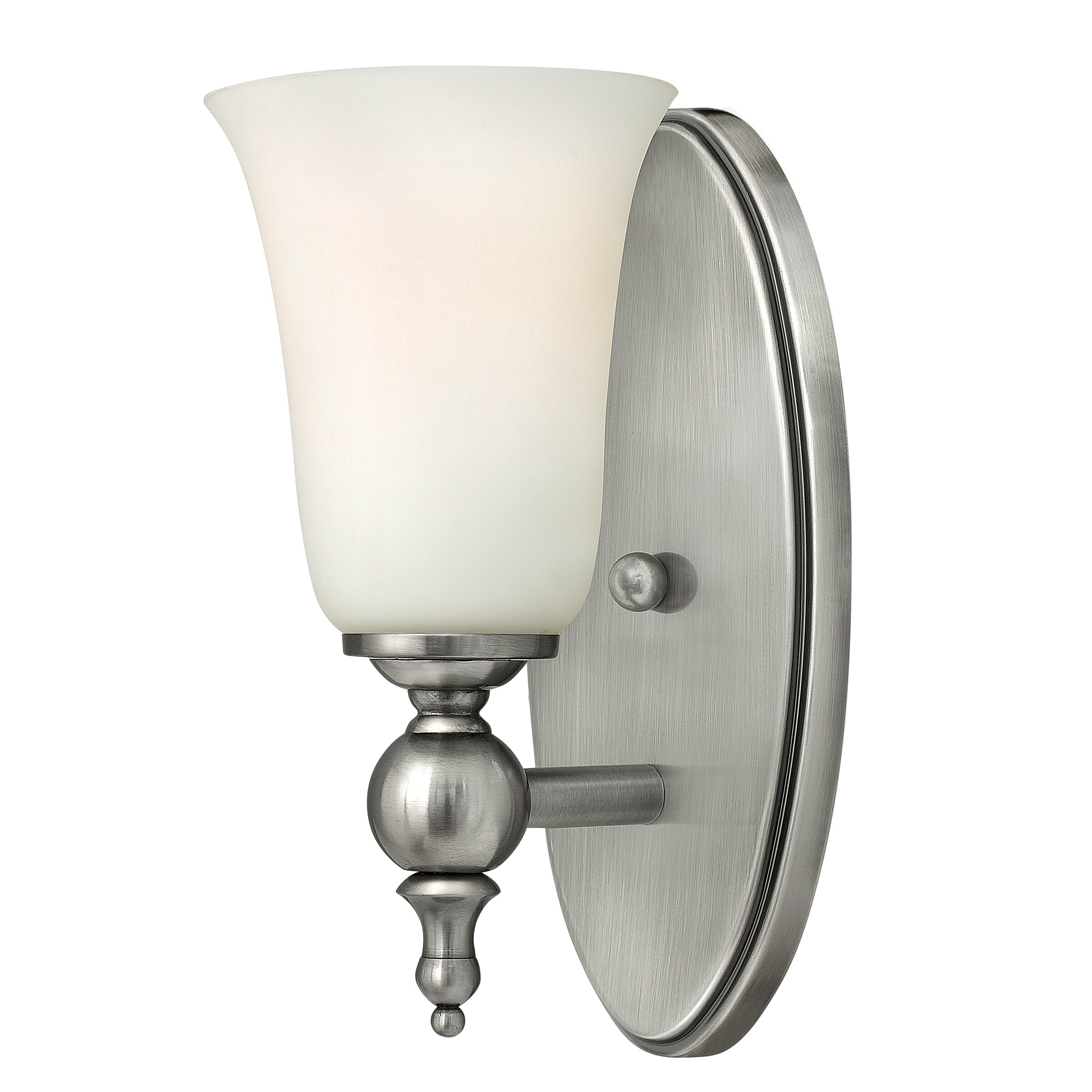 Etched Glass Wall Lights : Hinkley Lighting Yorktown 1 Light Wall Sconce with Etched Opal Glass & Reviews Wayfair