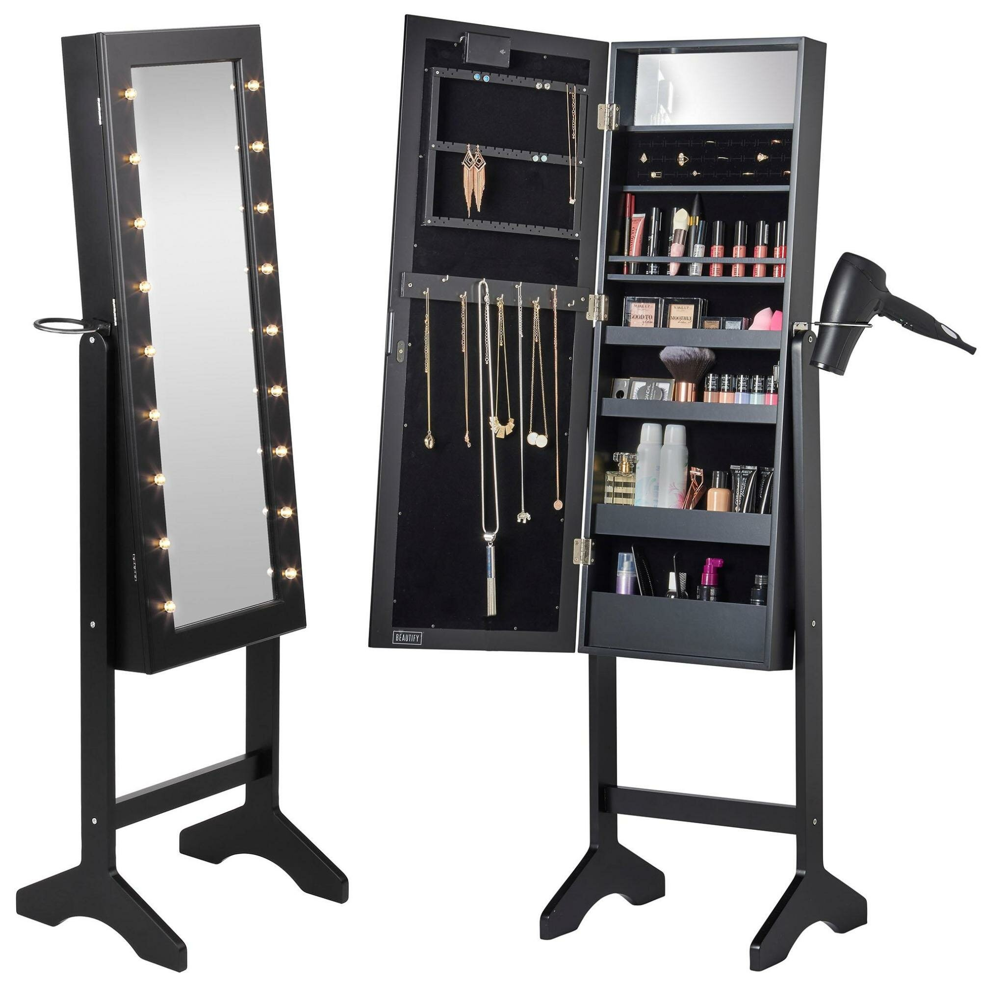 Beautify Jewelry Armoire with Mirror | Wayfair