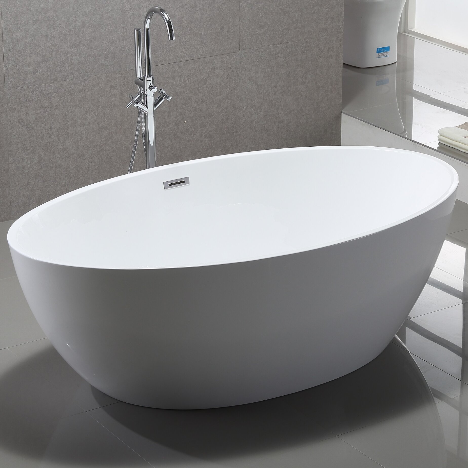 Vanityart 69 x 39 freestanding soaking bathtub for Best freestanding tub material