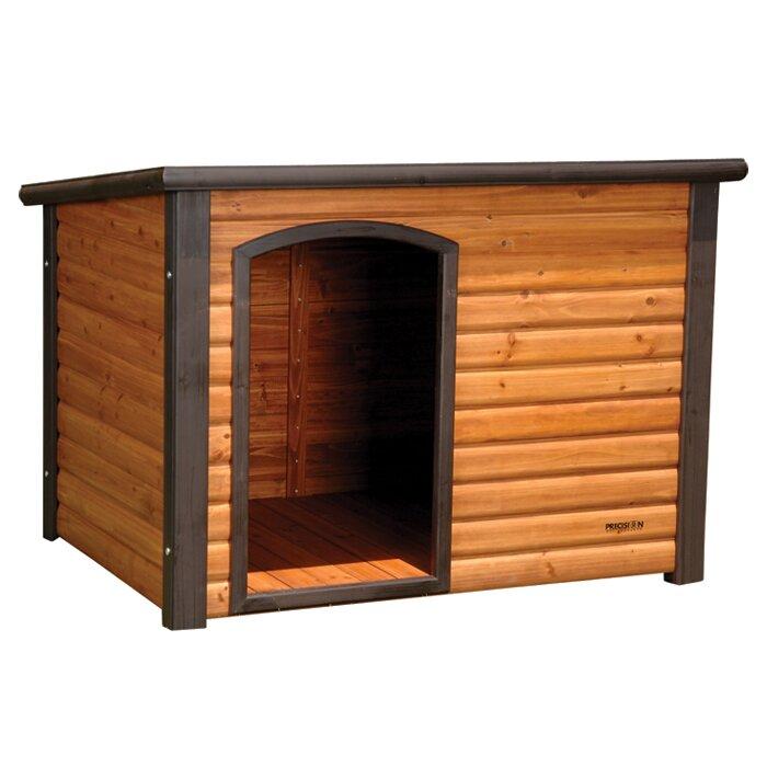 Precision pet outback extreme log cabin dog house for Outback log cabin dog house