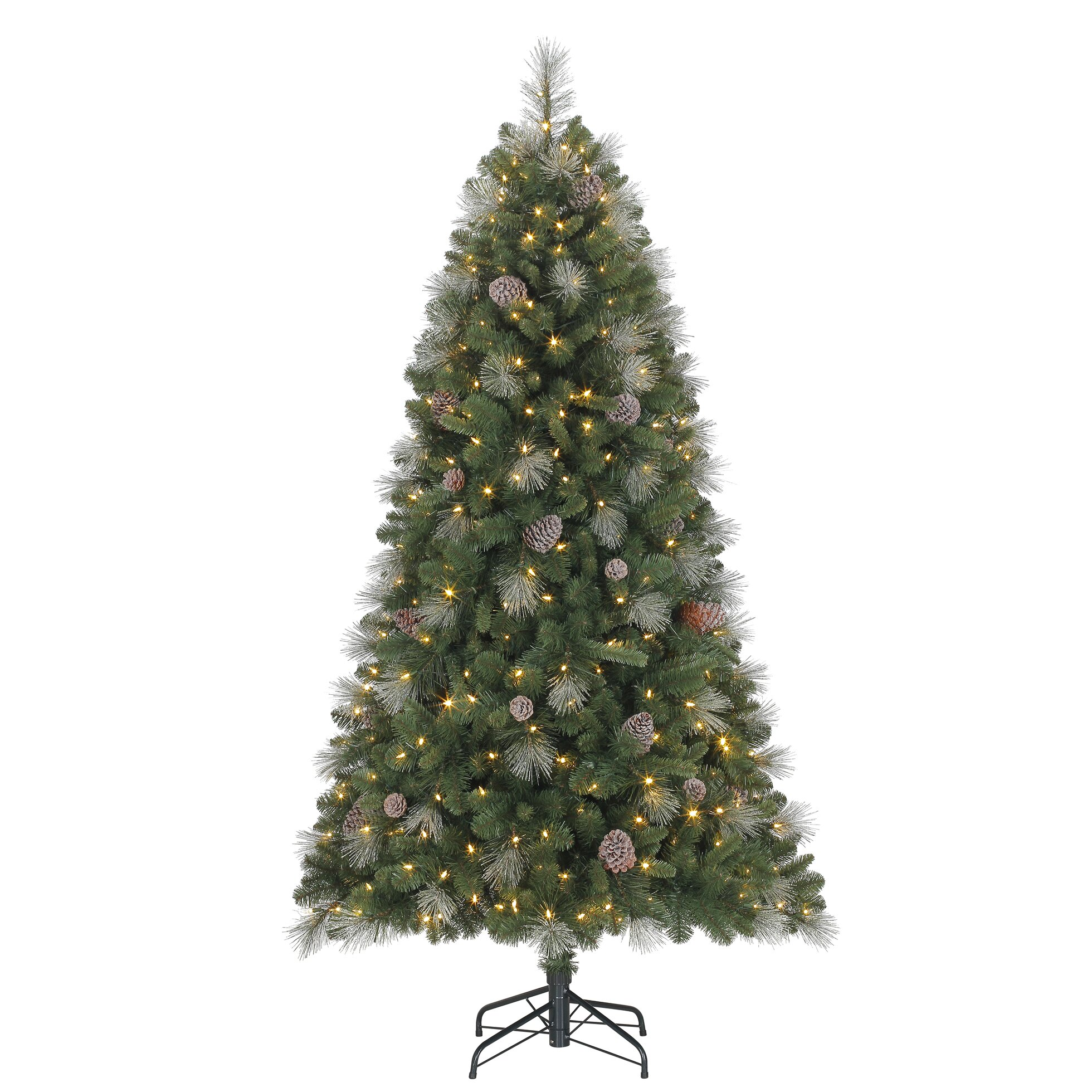 Green And White Christmas Tree: Polygroup 6.5' Green/Silver Fir Artificial Christmas Tree