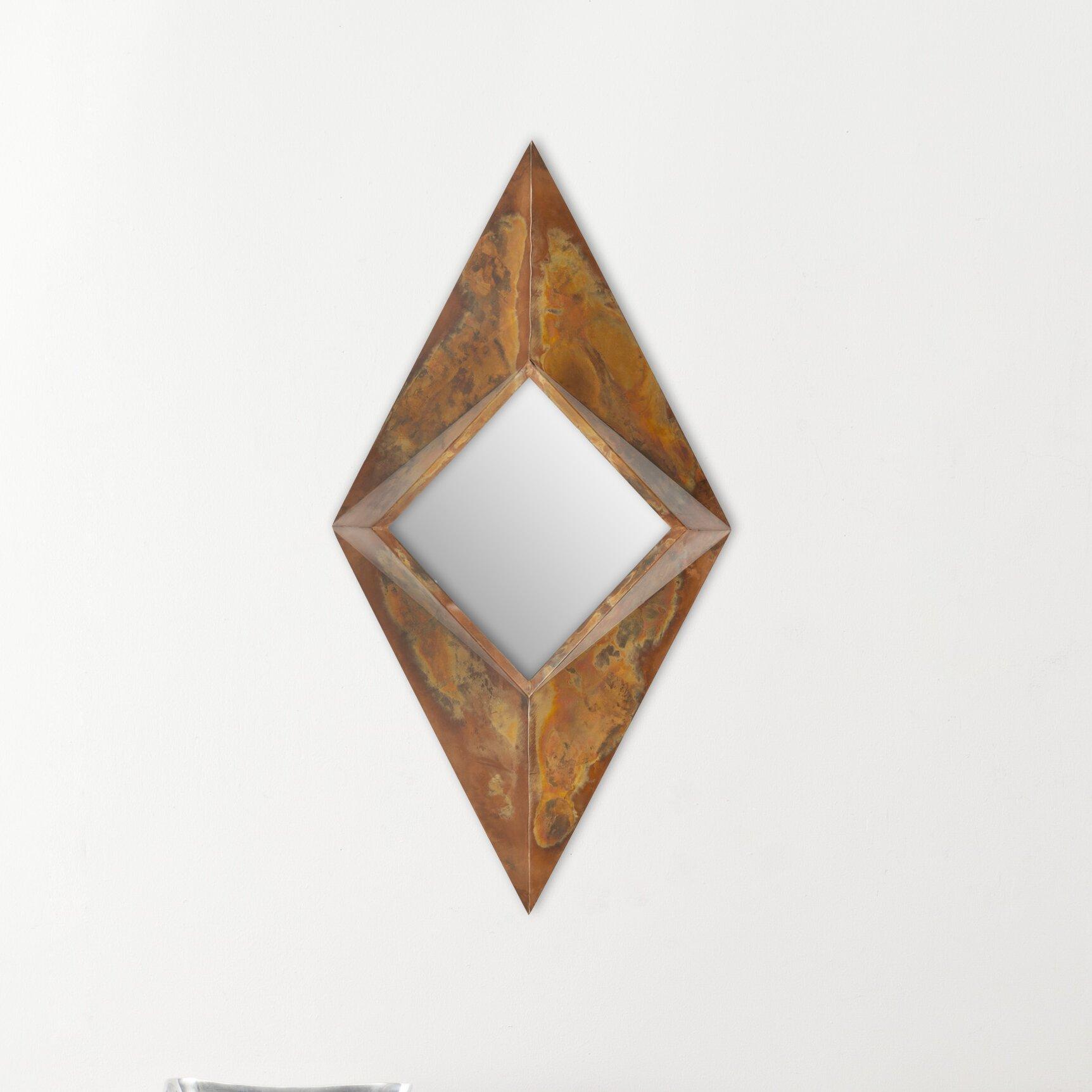 Safavieh diamond mirror reviews wayfair for Accent mirrors