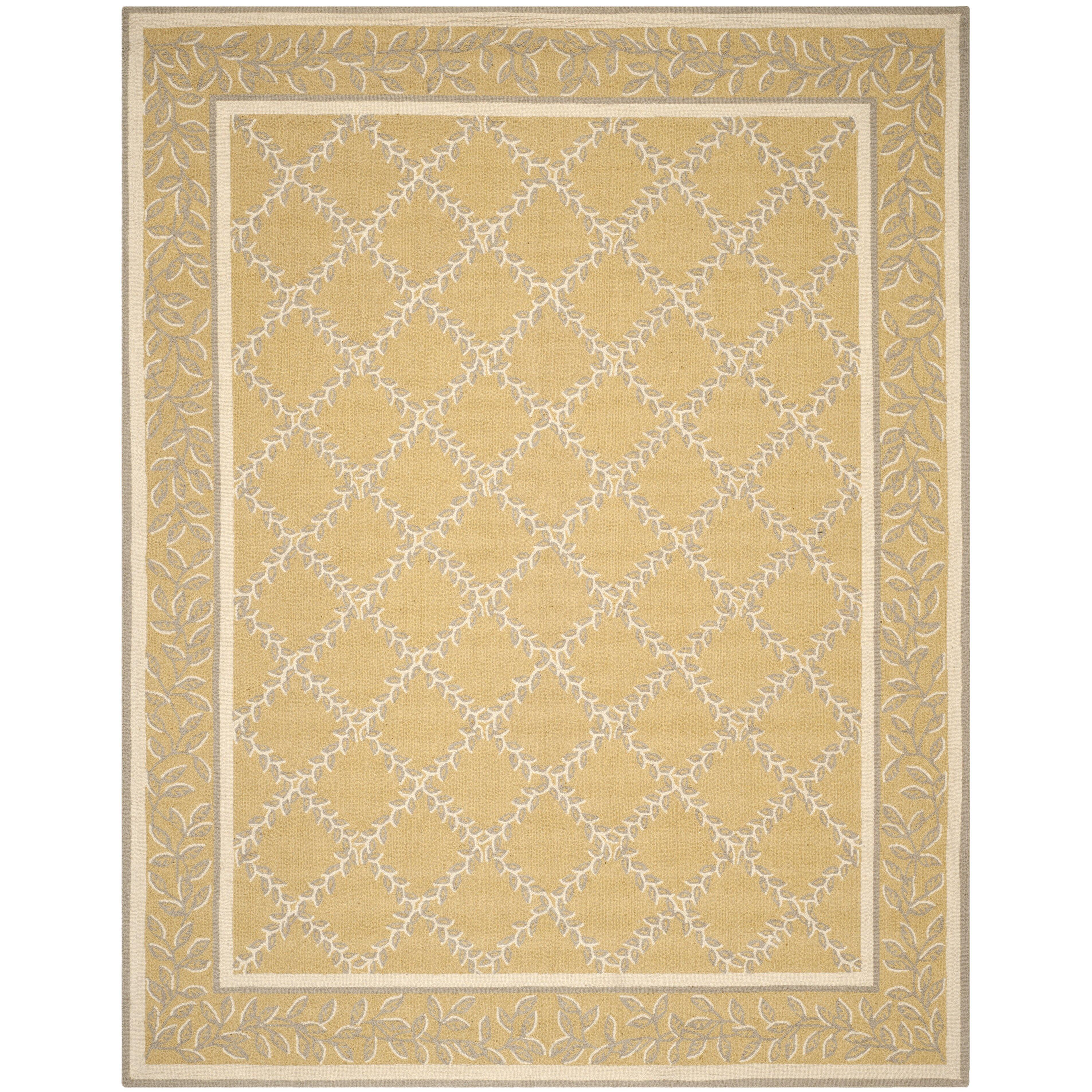 safavieh chelsea yellow grey area rug reviews wayfair. Black Bedroom Furniture Sets. Home Design Ideas