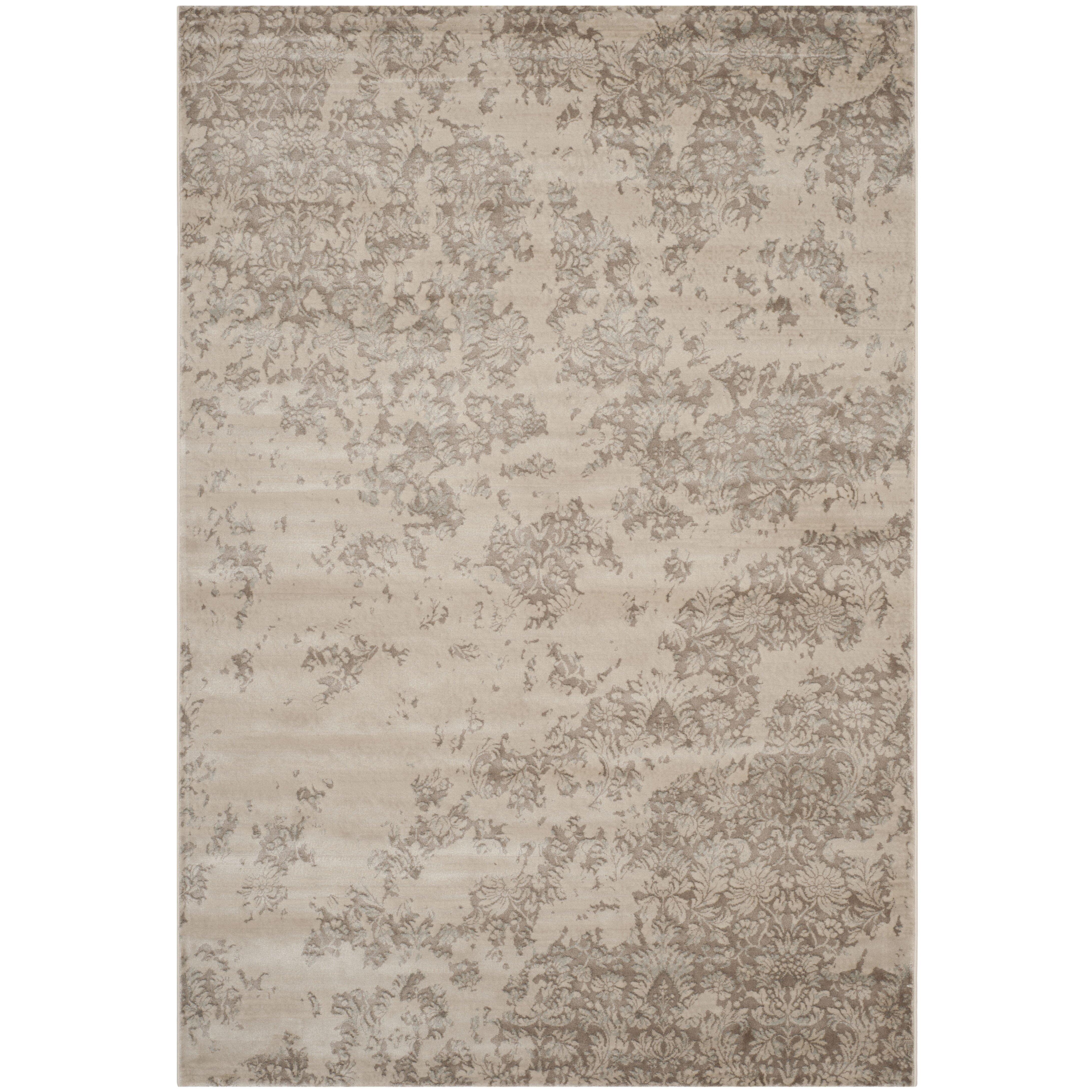 Safavieh Retro Mid Century Modern Abstract Grey Ivory Rug: Safavieh Vintage Ivory / Grey Rug & Reviews