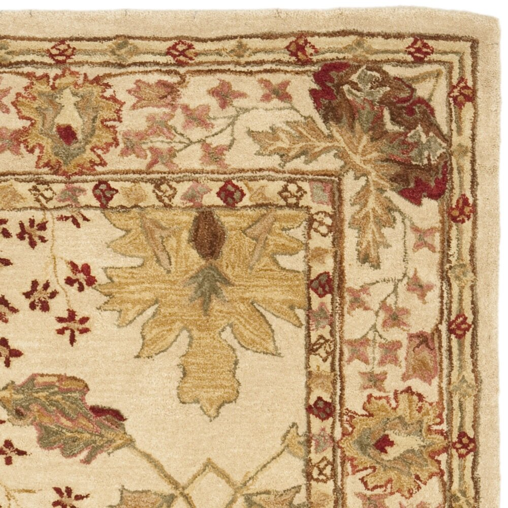 Safavieh anatolia cream red area rug reviews wayfair for Cream and red rugs
