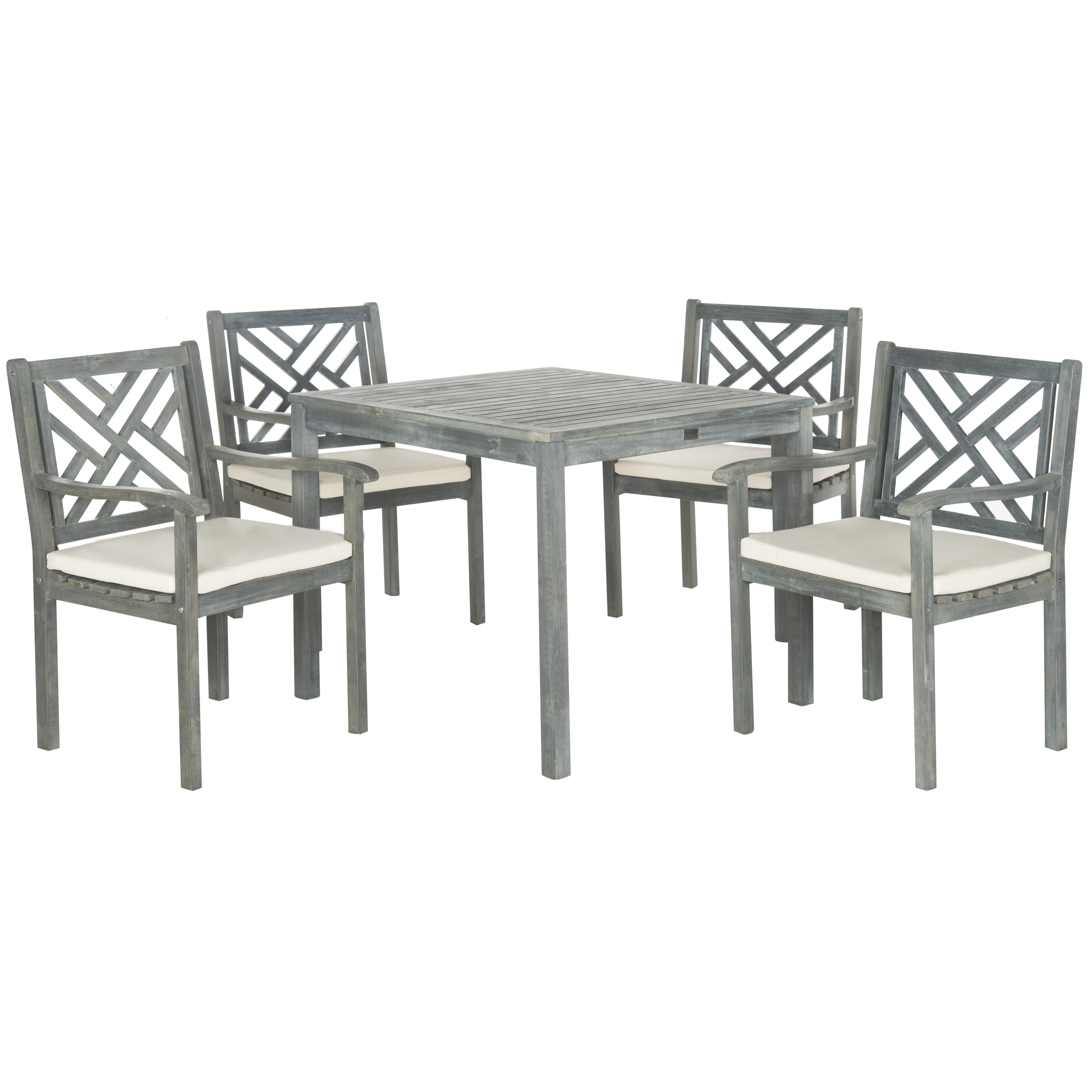 Very Impressive portraiture of Safavieh Bradbury 5 Piece Dining Set with Cushions & Reviews Wayfair with #6A6A61 color and 6513x6513 pixels