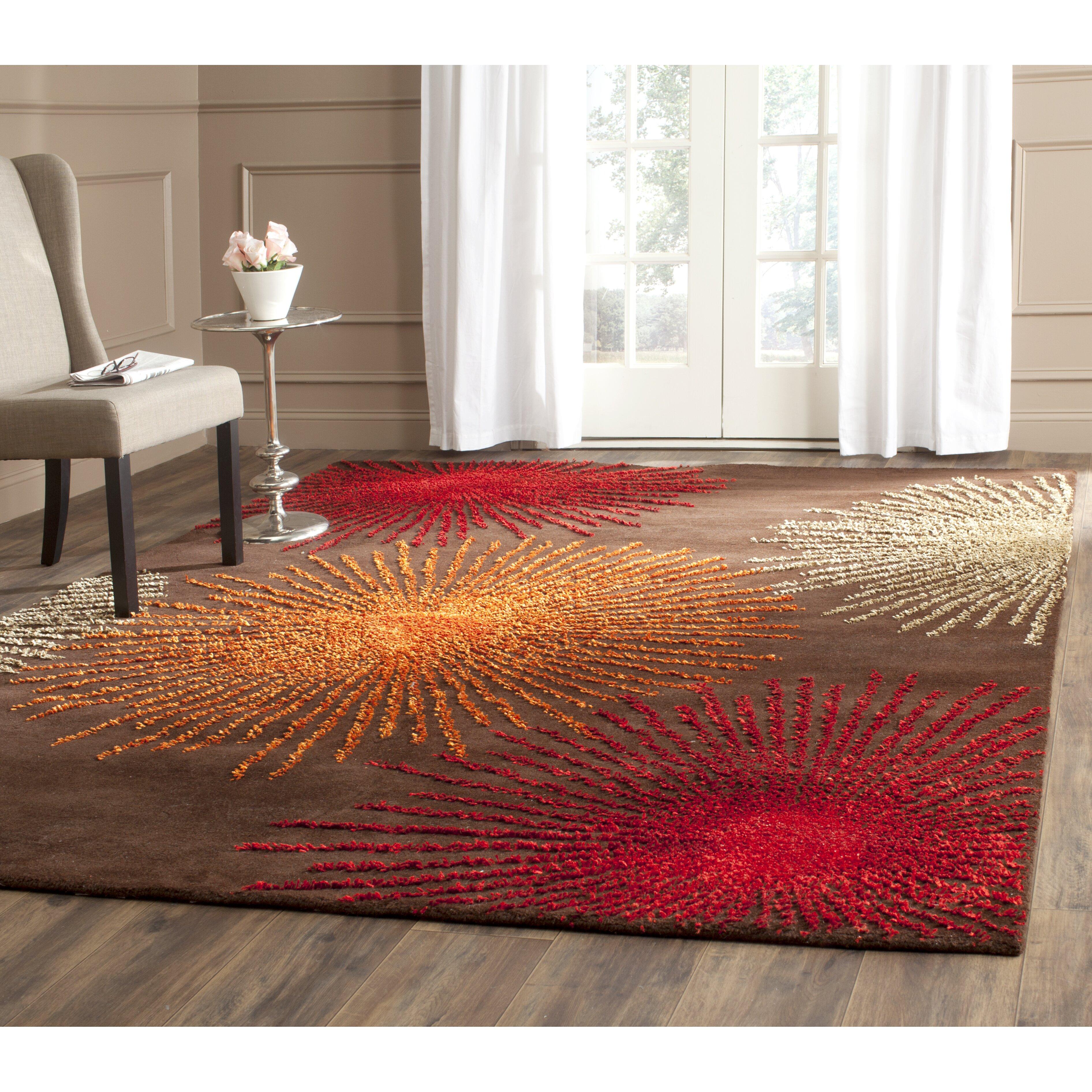 Safavieh soho brown handmade area rug reviews wayfair for Custom made area rugs