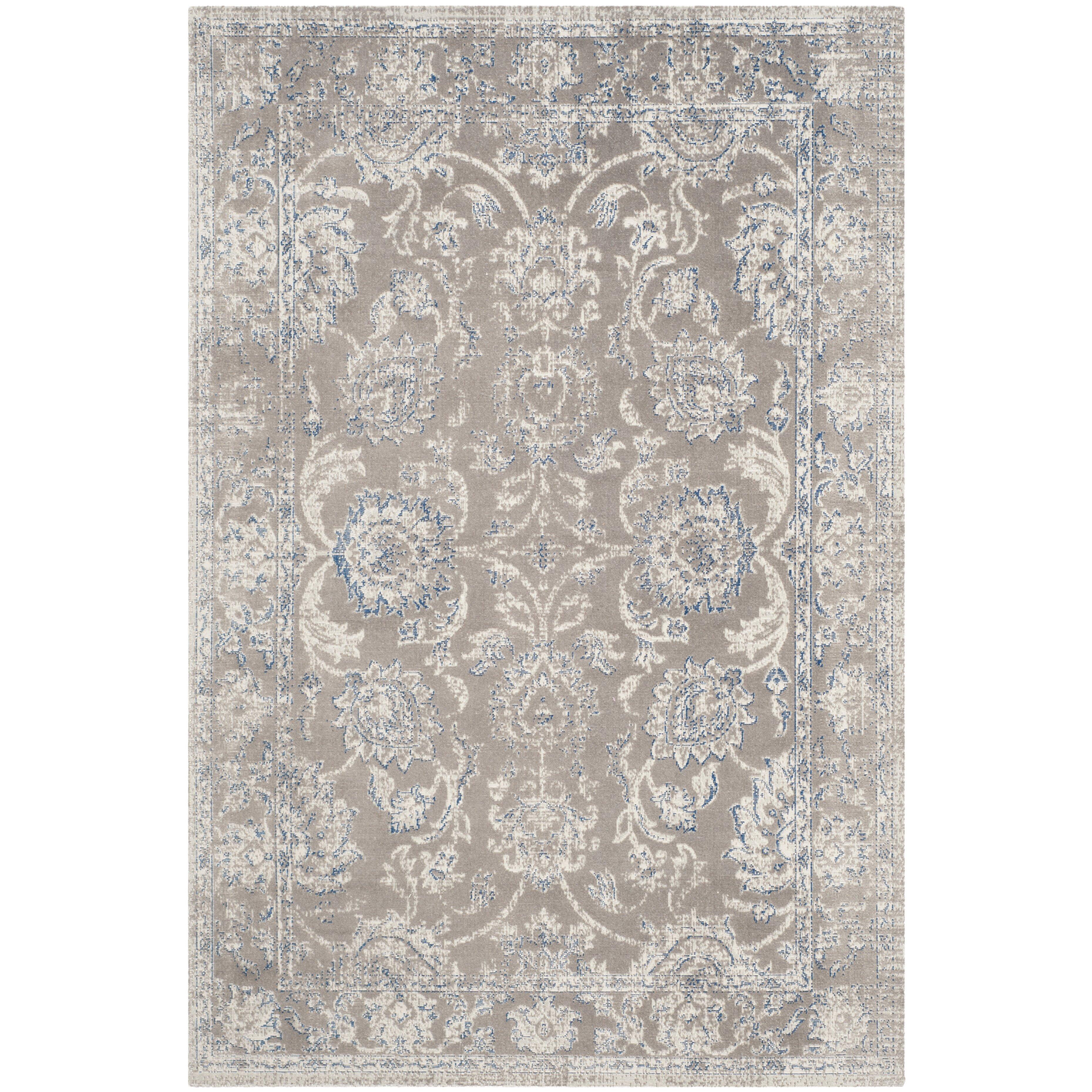 Safavieh patina taupe blue area rug reviews wayfair for Safavieh rugs