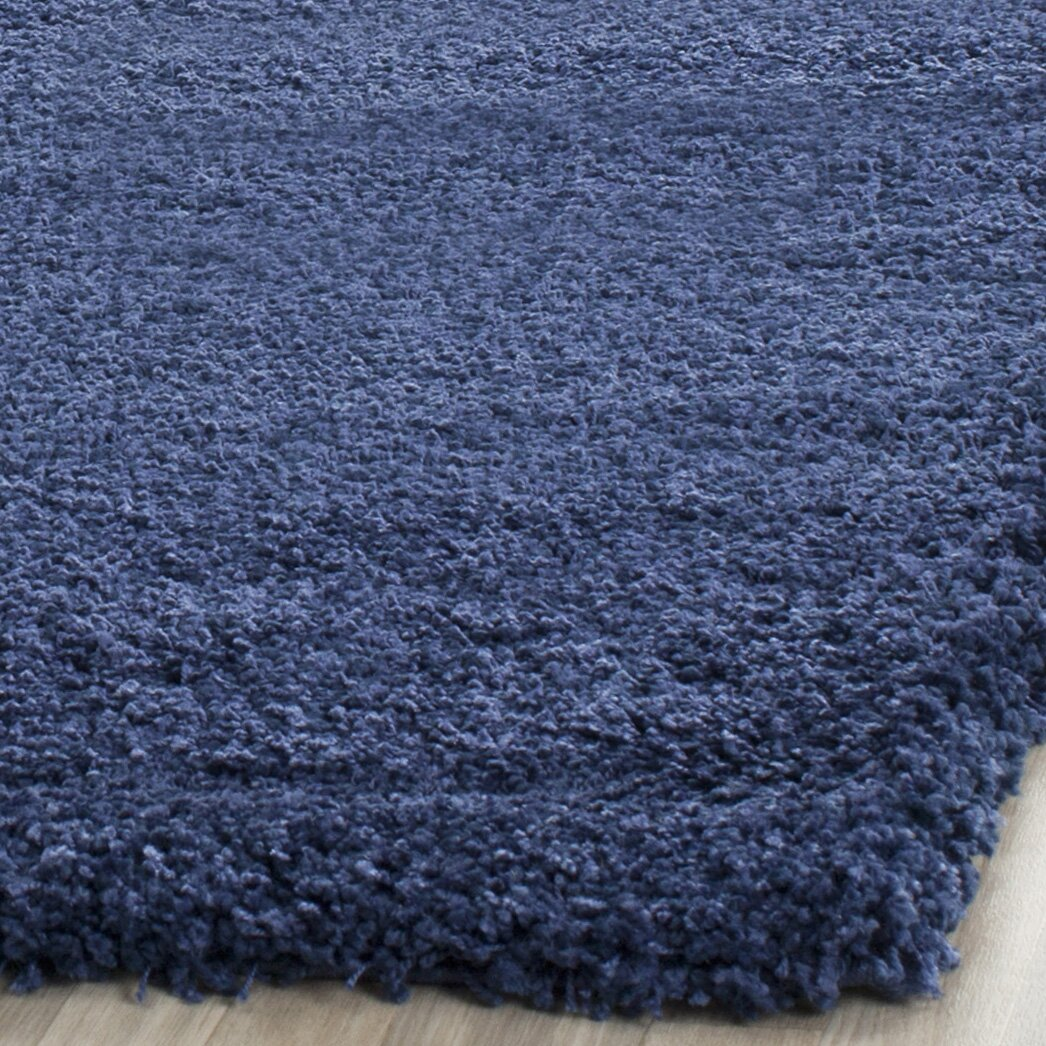 Safavieh Milan Shag Navy Blue Area Rug Amp Reviews Wayfair