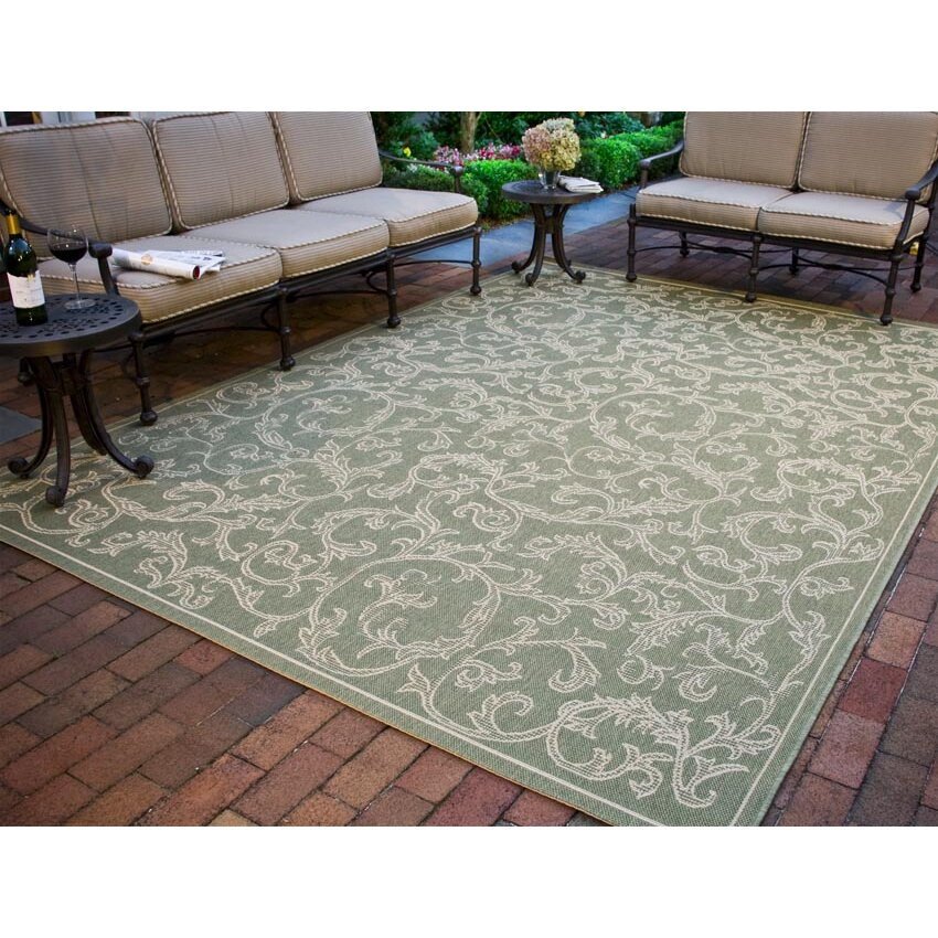 Safavieh Outdoor: Safavieh Courtyard Indoor/Outdoor Area Rug In Olive