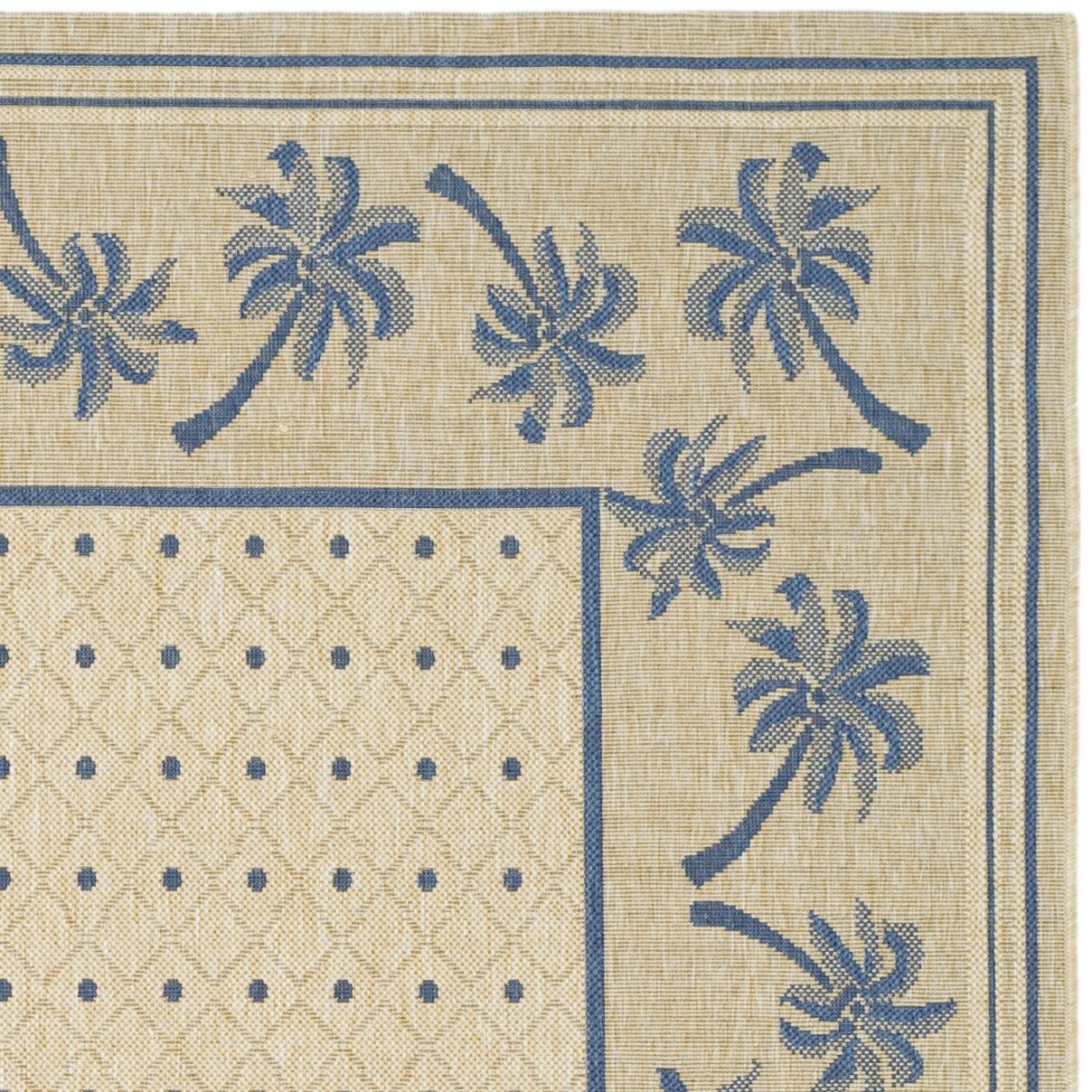 Safavieh Courtyard Ivory Blue Outdoor Rug & Reviews
