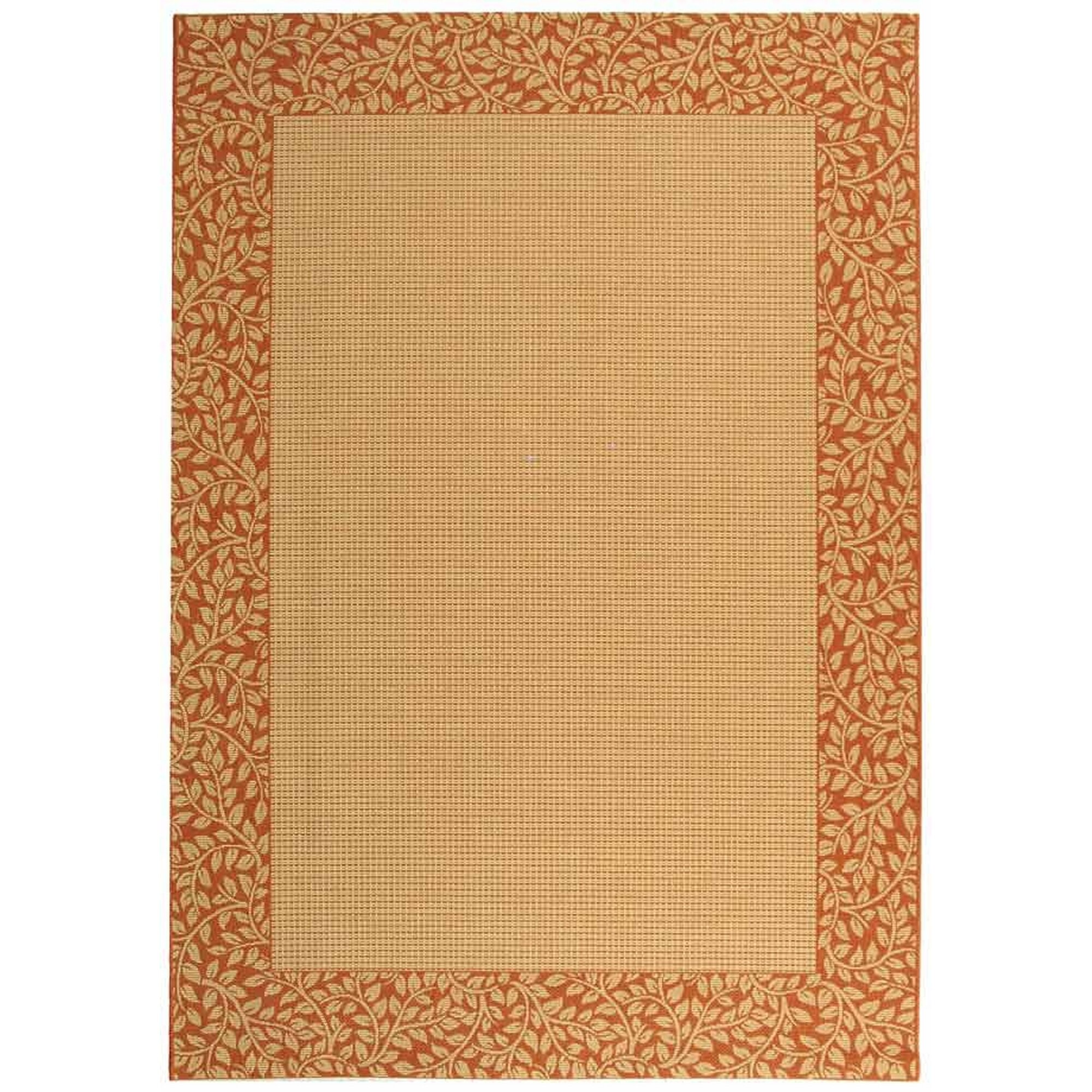 Safavieh Courtyard Brown Tan Red Outdoor Area Rug