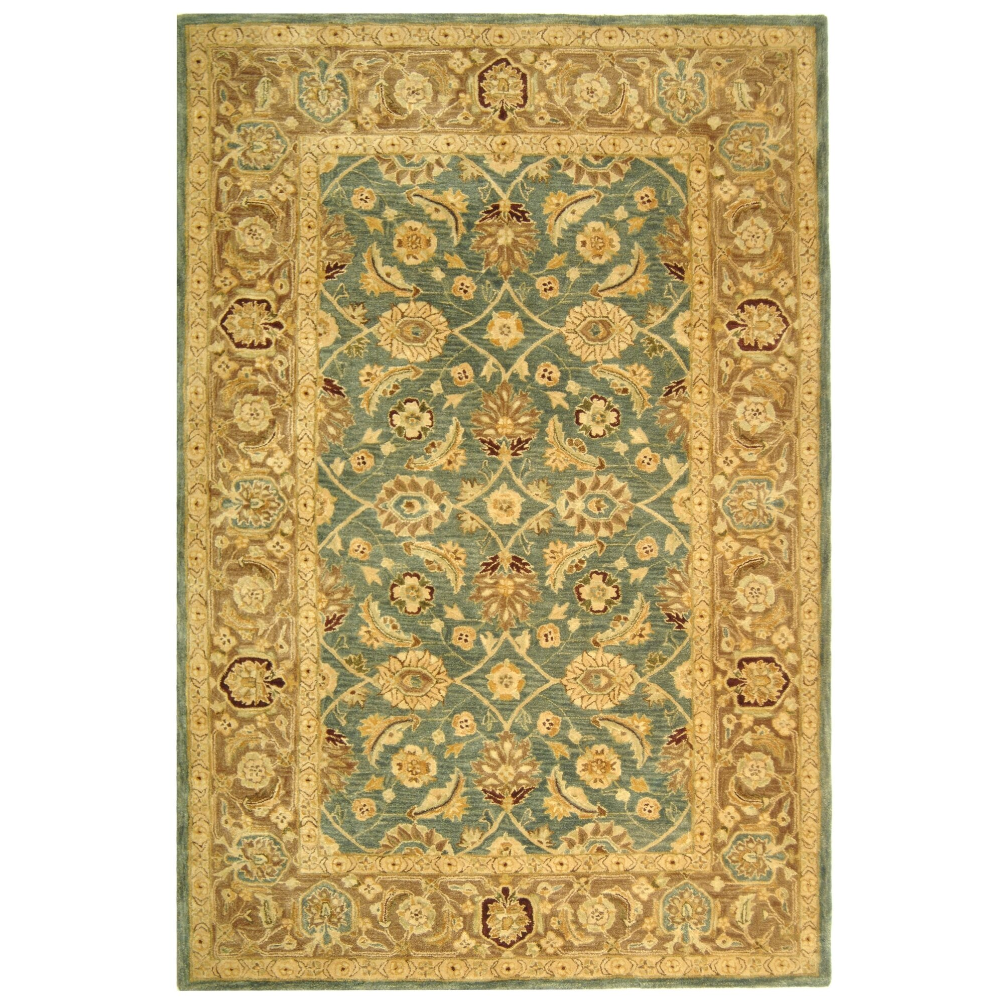 Safavieh Carpet: Safavieh Anatolia Blue / Brown Area Rug & Reviews
