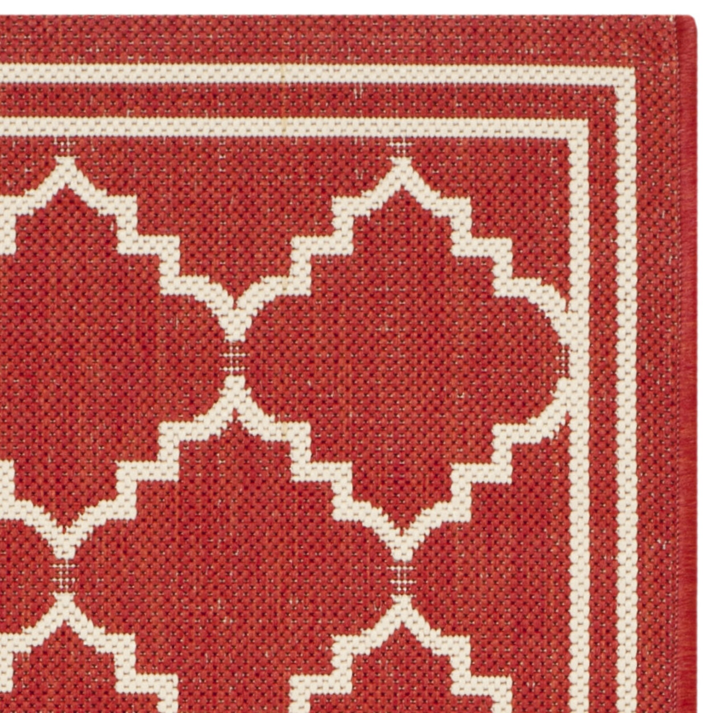 Safavieh Courtyard Red Beige Outdoor Area Rug & Reviews