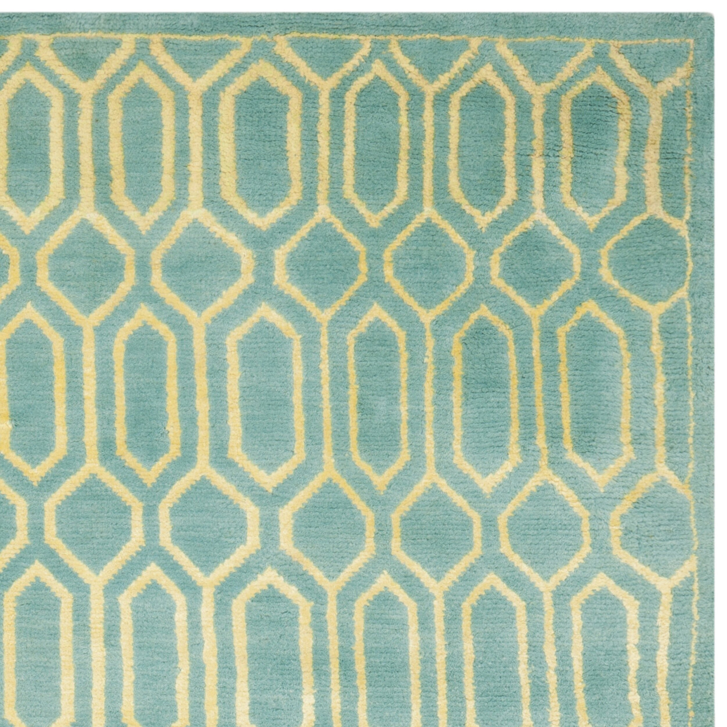 Safavieh Mosaic Aqua / Light Gold Rug & Reviews