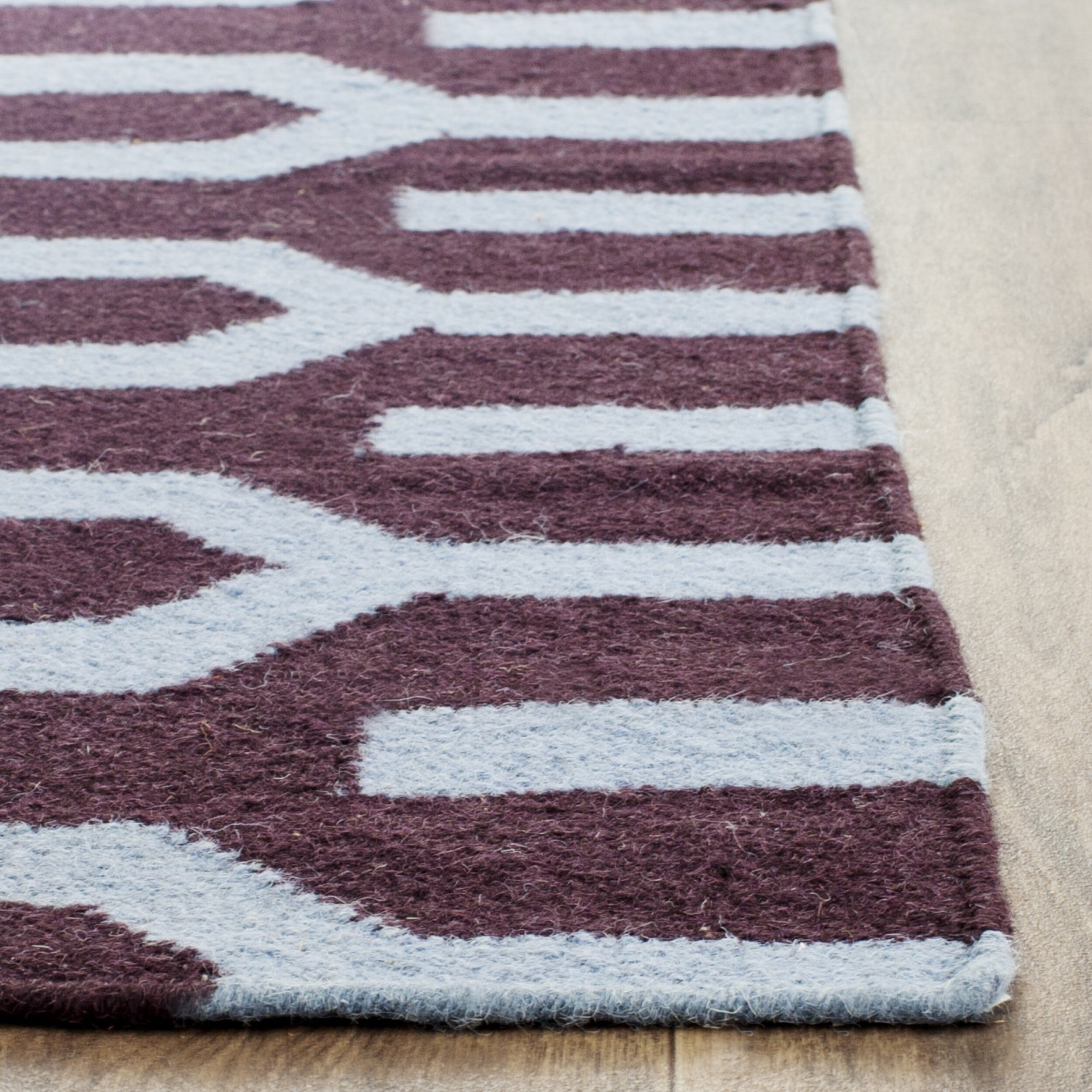 Xl Purple Rug: Safavieh Dhurries Purple/Blue Area Rug