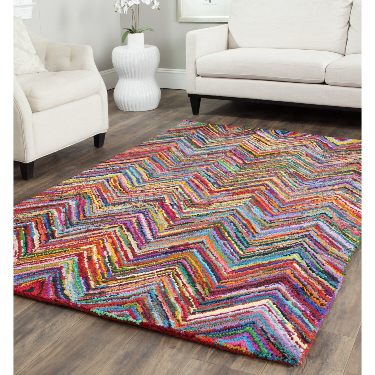 Chevron Kitchen Rug: Safavieh Nantucket Chevron Area Rug & Reviews