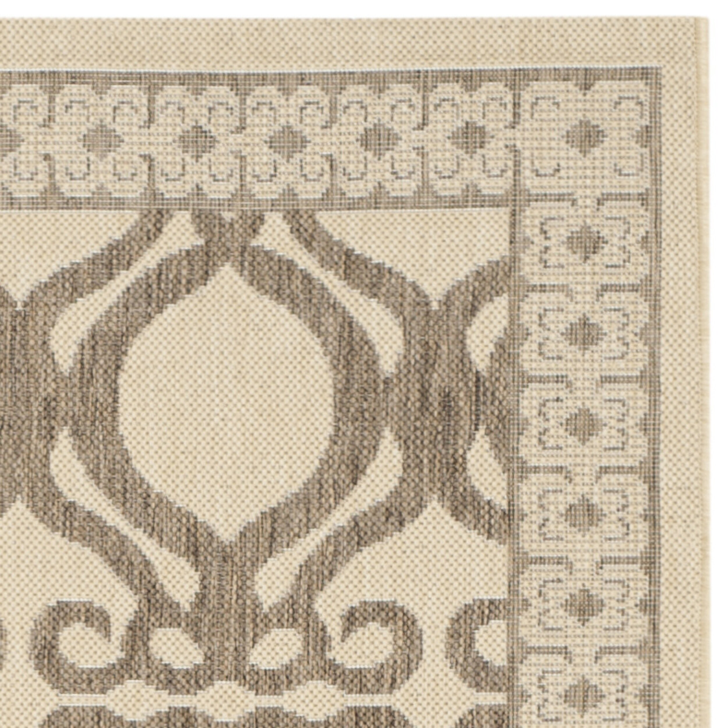 Safavieh Outdoor: Safavieh Courtyard Natural/Brown Outdoor Rug & Reviews