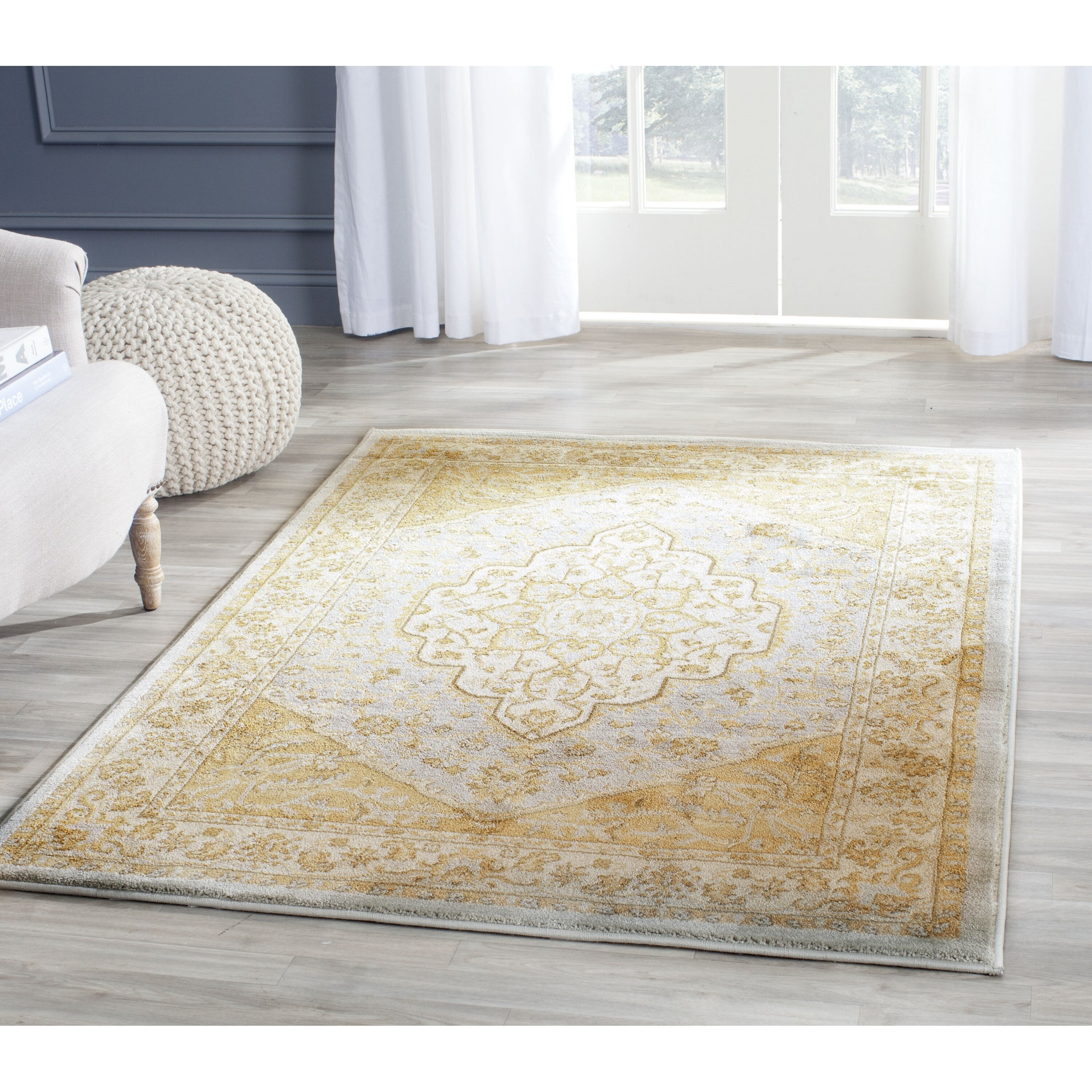 Large Area Rugs Gold: Safavieh Austin Light Grey/Gold Area Rug & Reviews