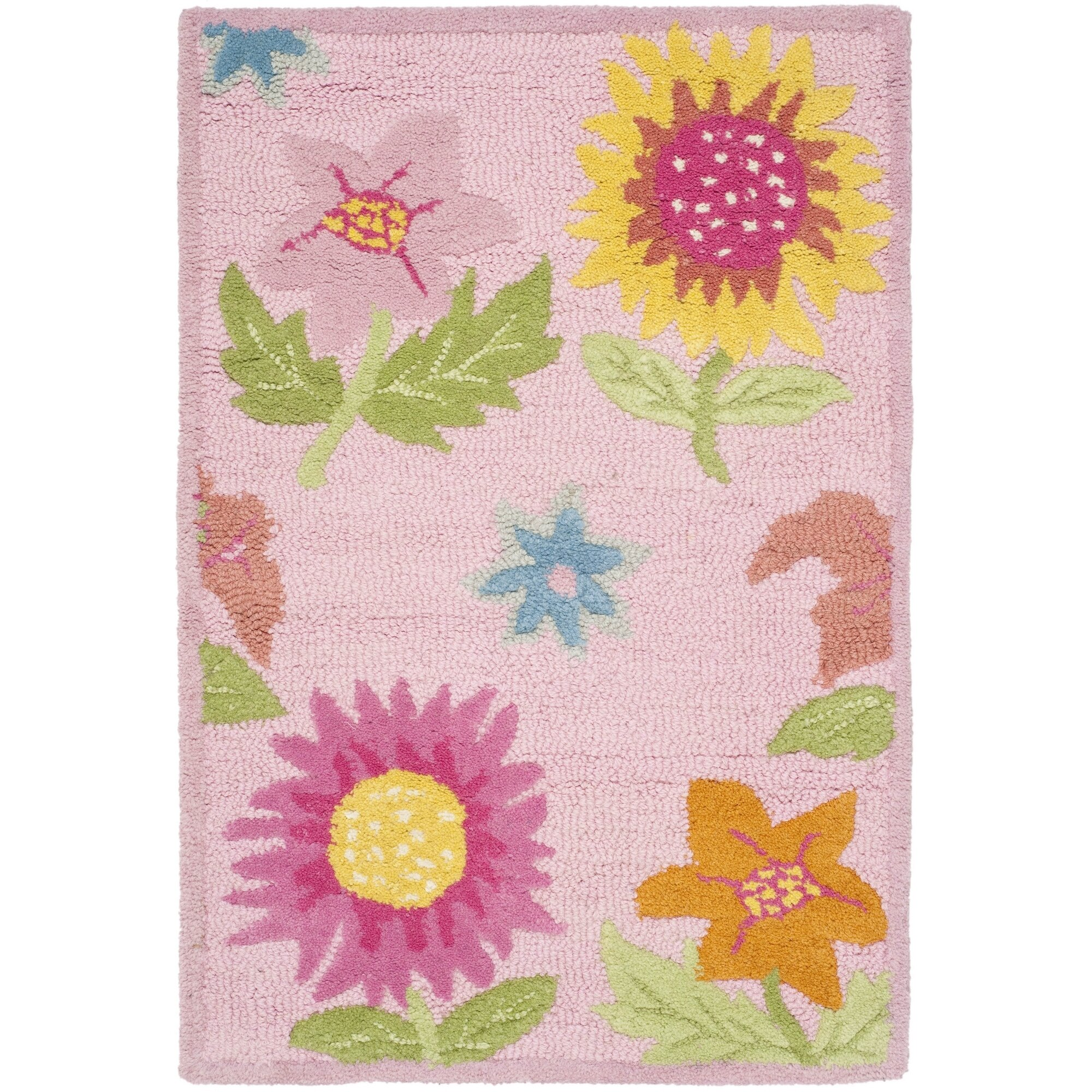 Safavieh Kids Pink Floral Area Rug Reviews Wayfair
