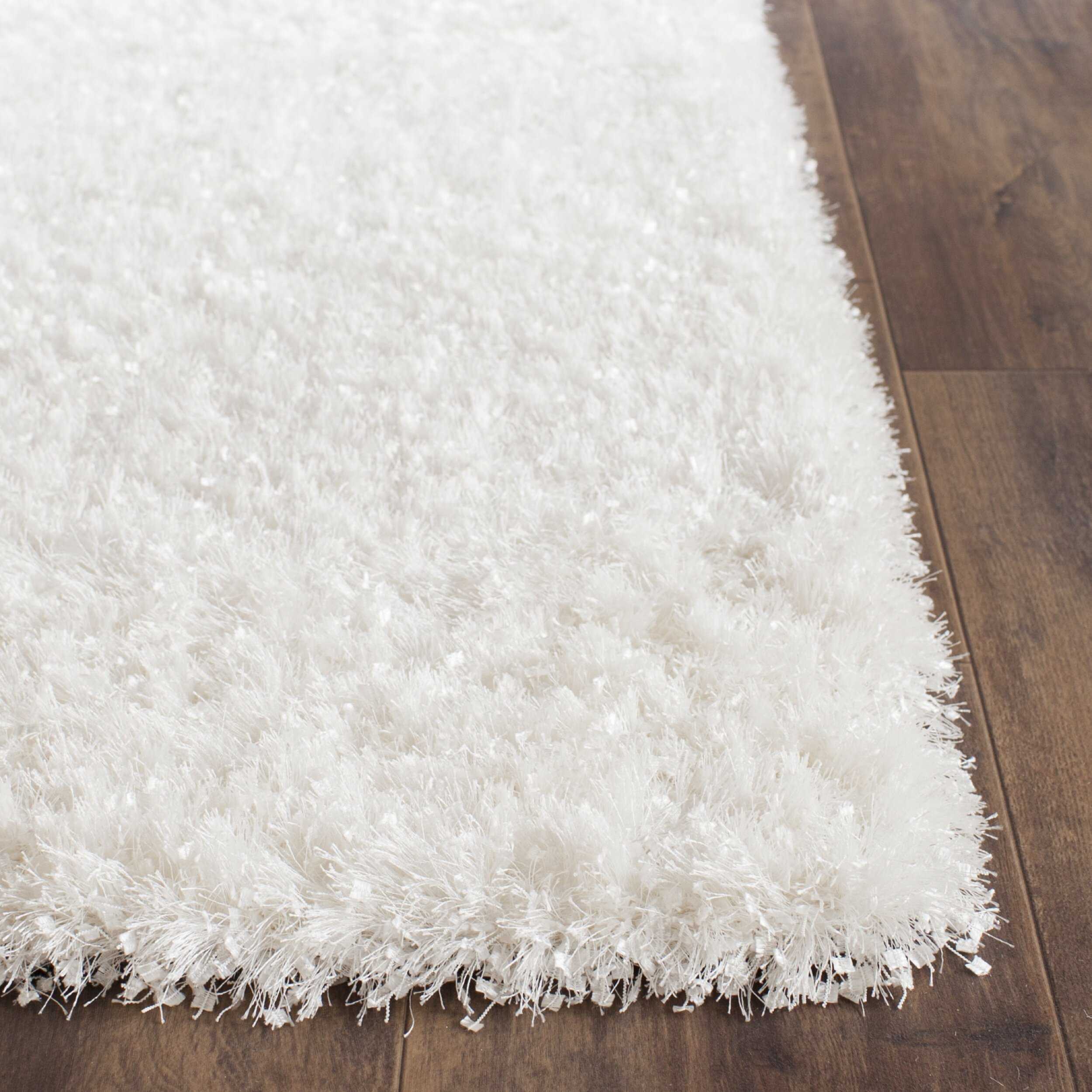 Safavieh malibu white shag area rug reviews wayfair for White area rug