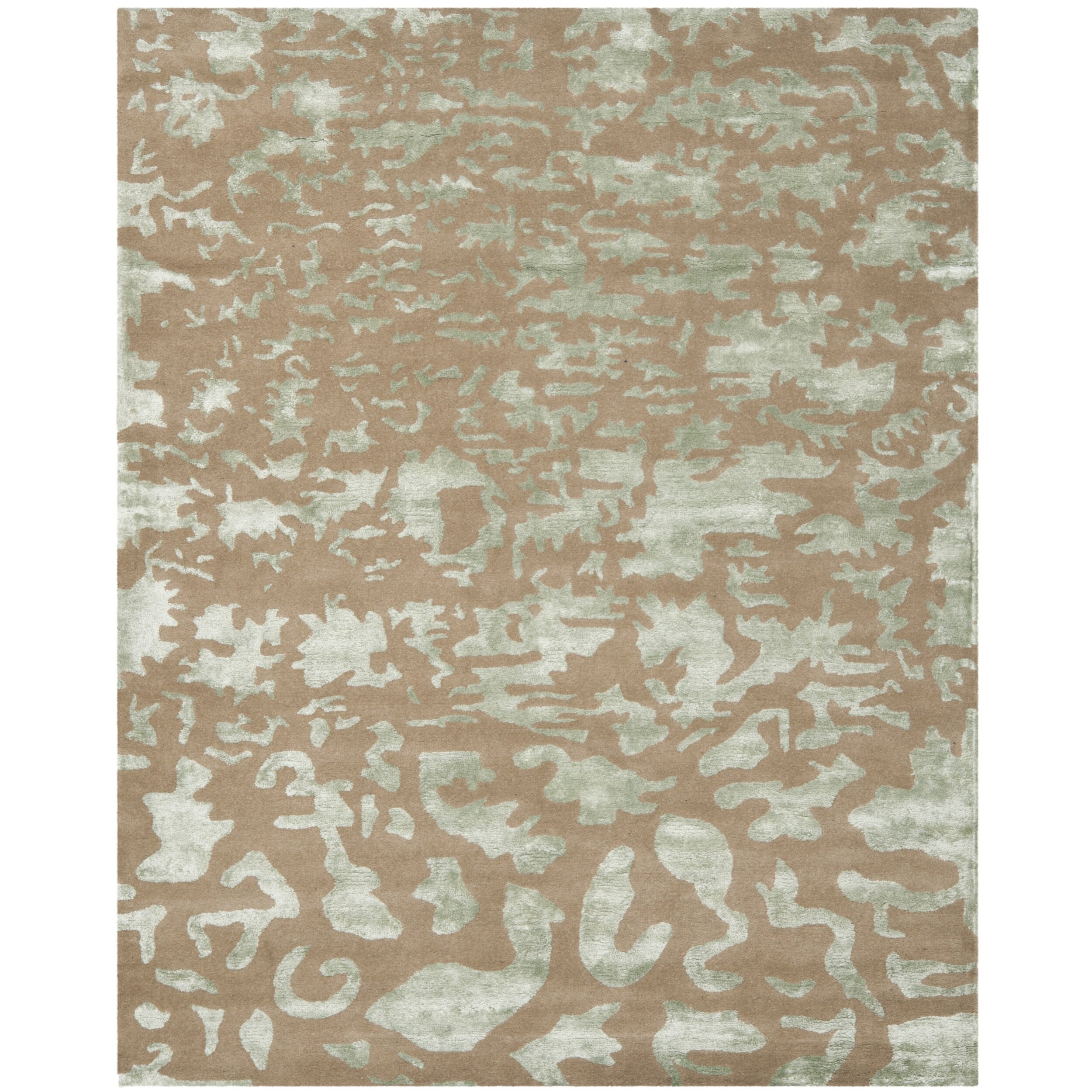 Safavieh soho taupe blue area rug reviews wayfair for Area carpets and rugs