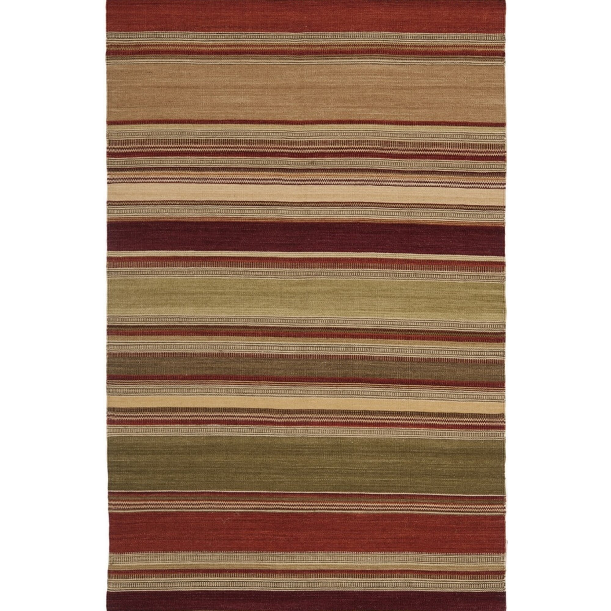 Safavieh striped kilim red rug reviews for Red and white striped area rug