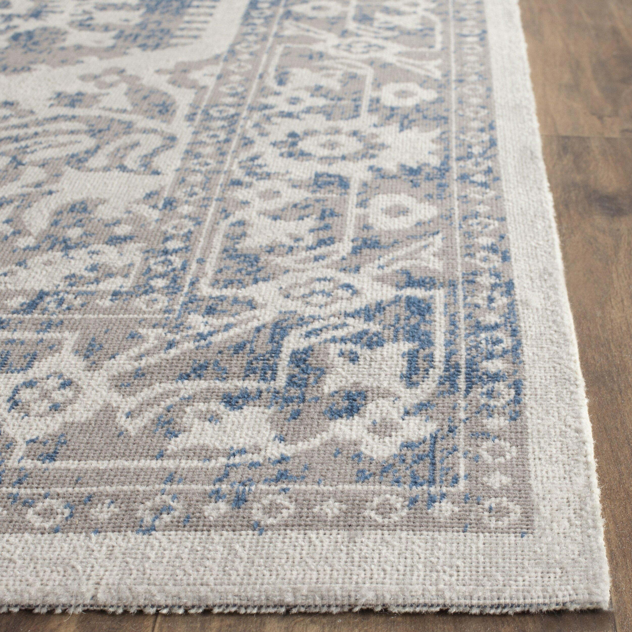 safavieh patina gray blue area rug reviews wayfair. Black Bedroom Furniture Sets. Home Design Ideas