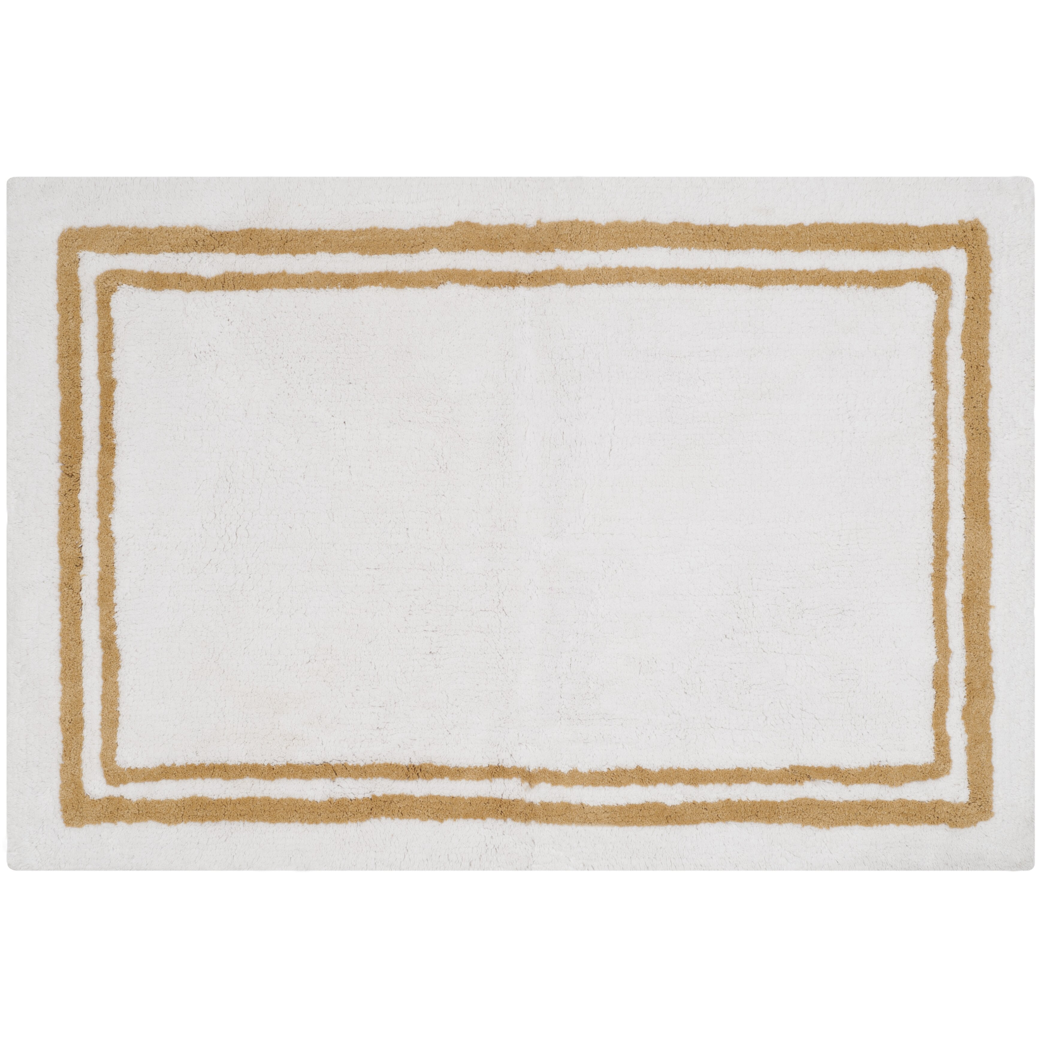 Safavieh plush master bath beige area rug wayfair for Master bathroom rugs