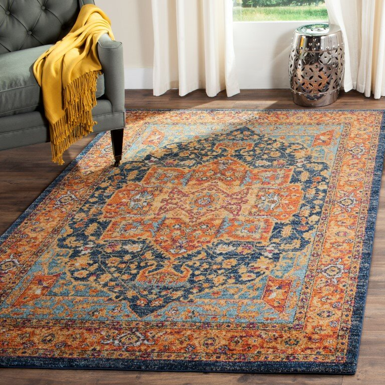 Safavieh Evoke Blue Orange Area Rug Amp Reviews Wayfair
