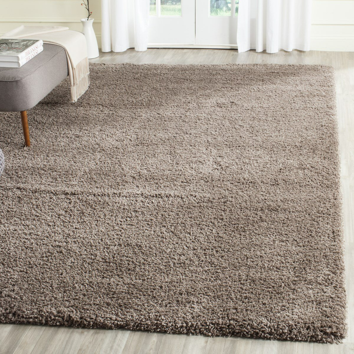 Area Rug In Bedroom Safavieh Shag Taupe Area Rug Amp Reviews Wayfair