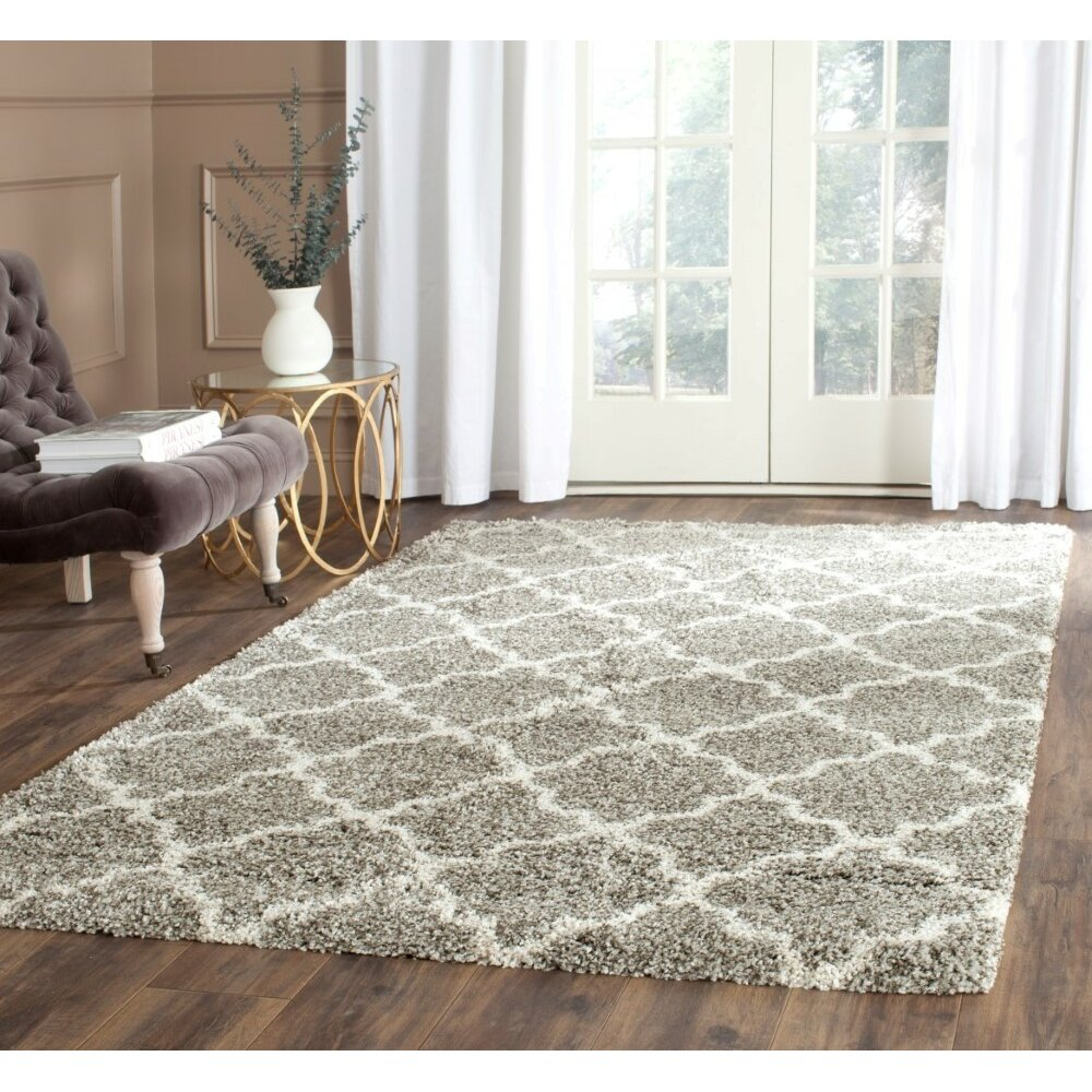 Safavieh Hudson Shag Gray Ivory Area Rug Amp Reviews Wayfair